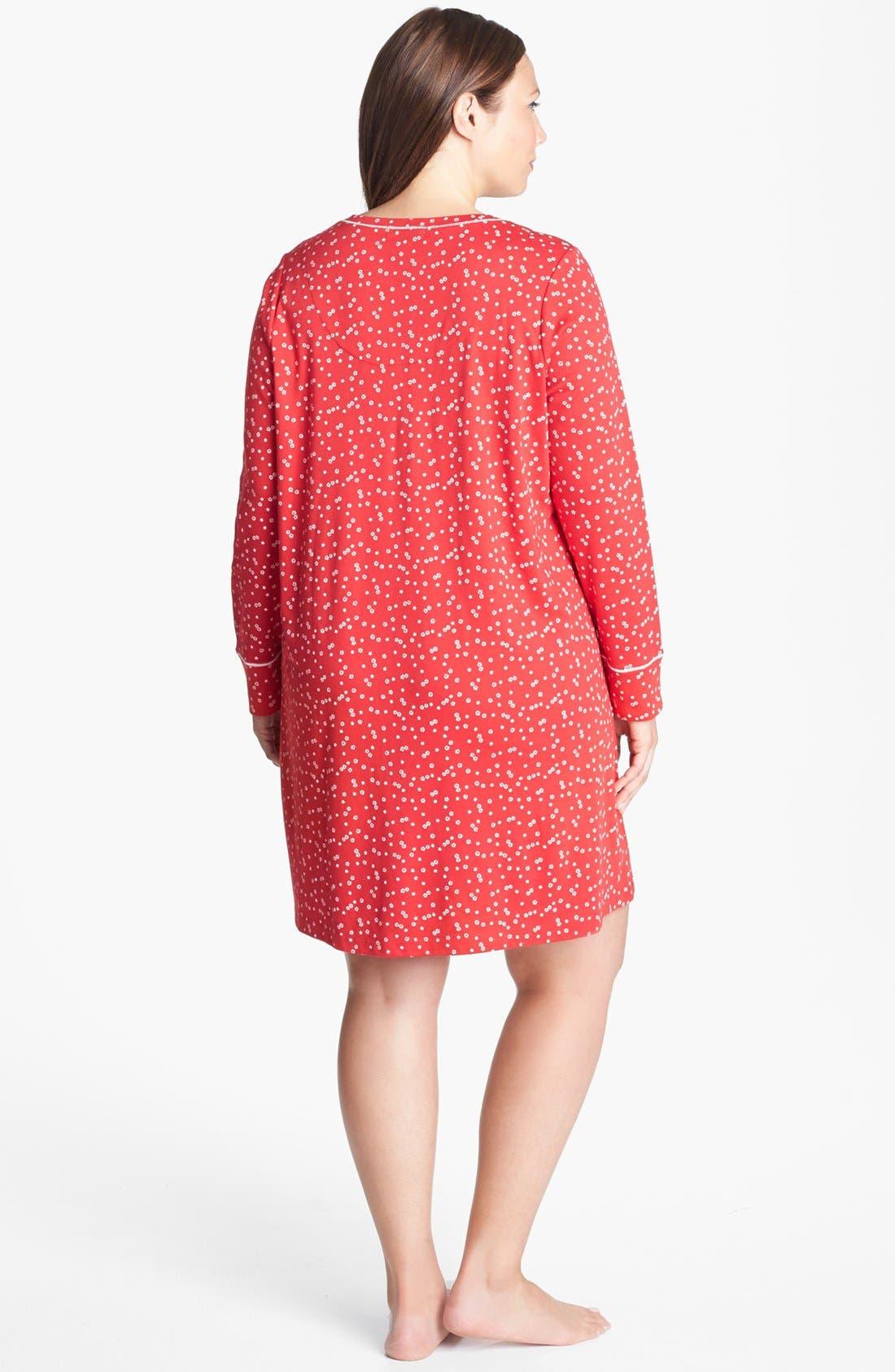 Alternate Image 2  - Carole Hochman Designs Knit Sleep Shirt (Plus Size)