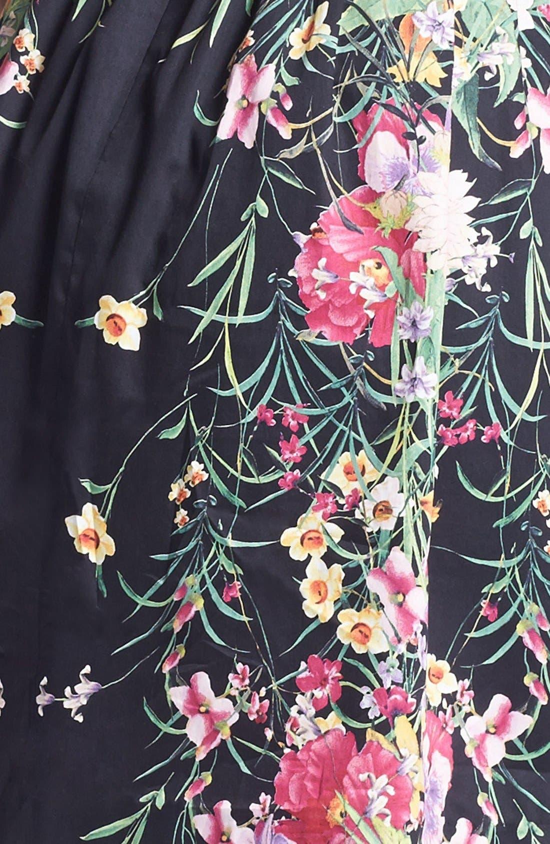 Alternate Image 3  - Ivy & Blu Print Fit & Flare Dress (Petite)