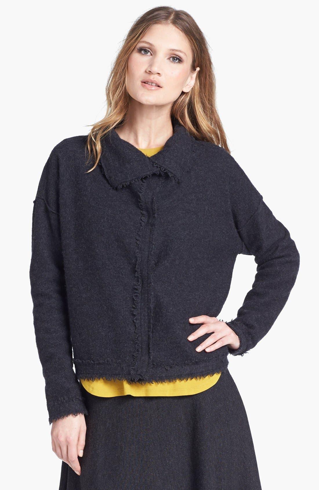 Alternate Image 1 Selected - Eileen Fisher Boiled Wool Jacket