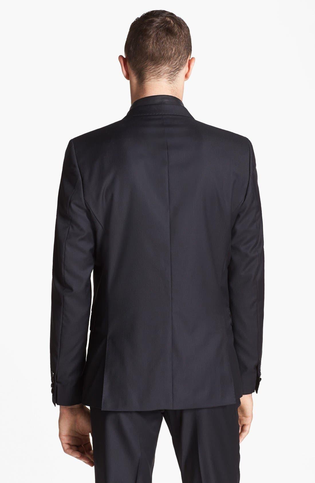 Alternate Image 3  - The Kooples Adjusted Fit Black Wool Blazer