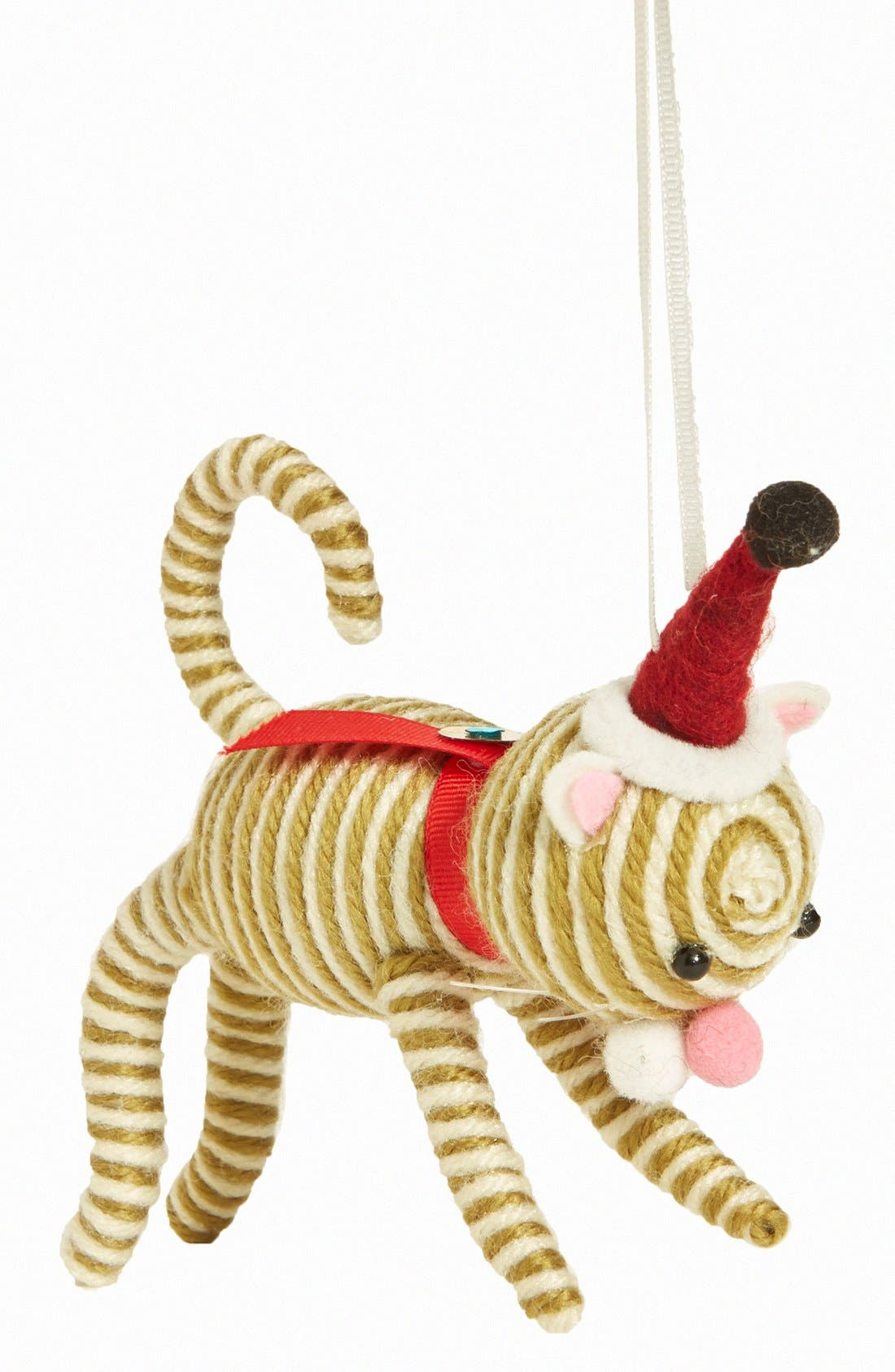 Main Image - Creative Co-Op 'Party Cat' Ornament