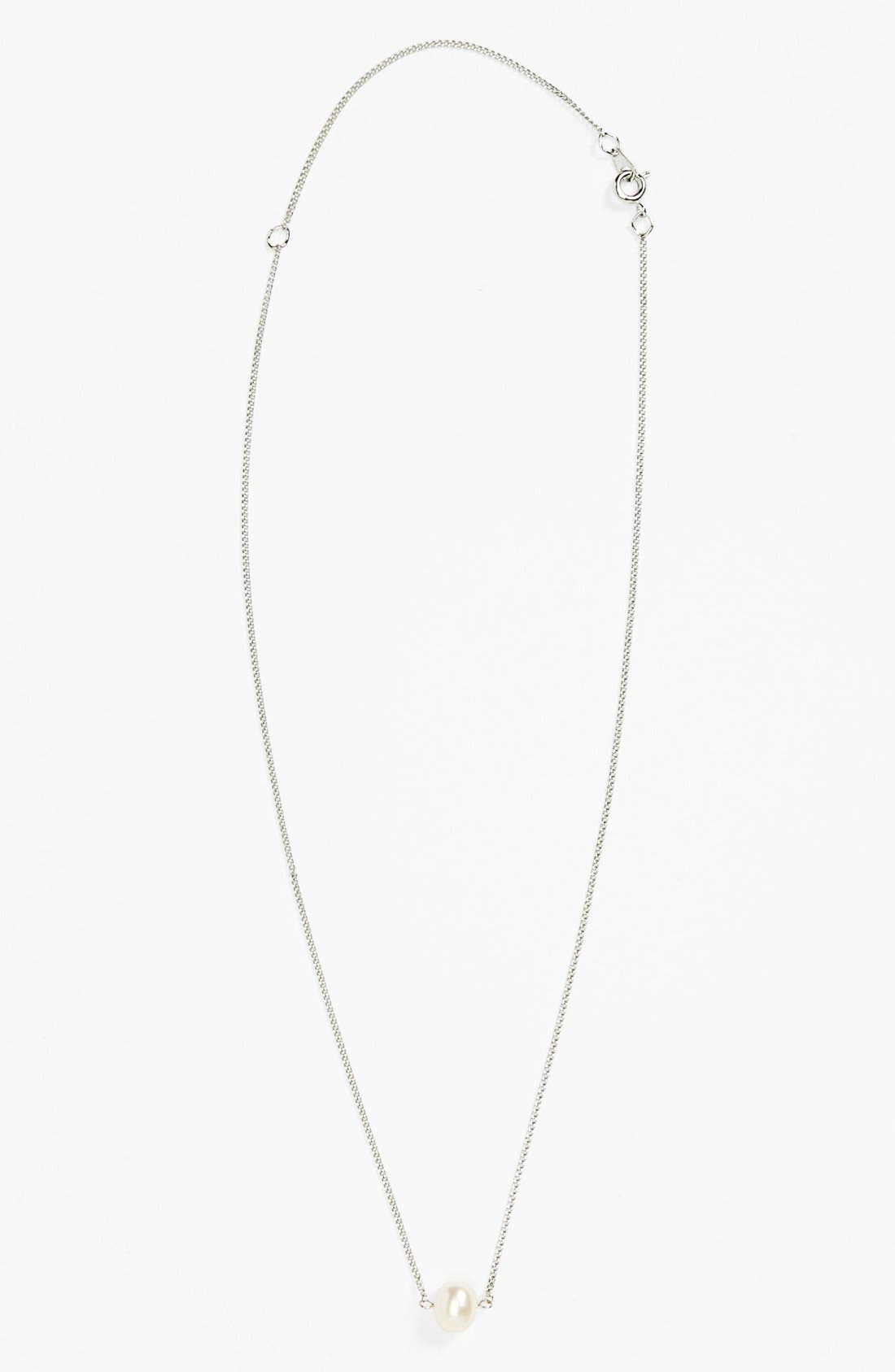 Alternate Image 1 Selected - Carole Single Faux Pearl Necklace (Juniors) (Online Only)