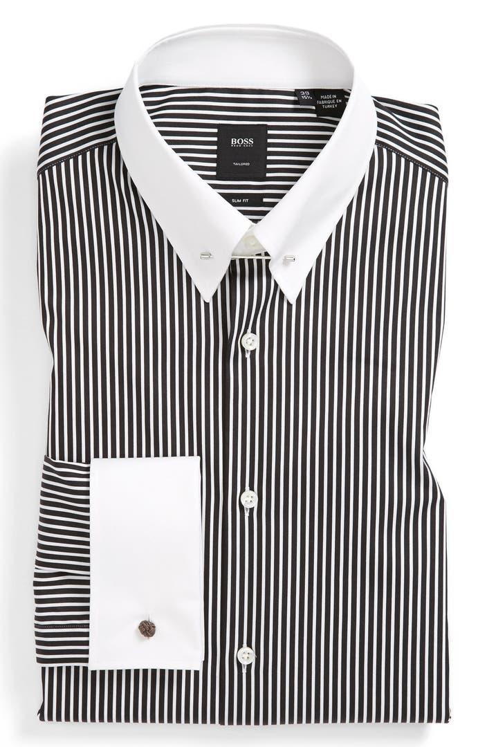 Boss hugo boss slim fit dress shirt nordstrom for Hugo boss dress shirts