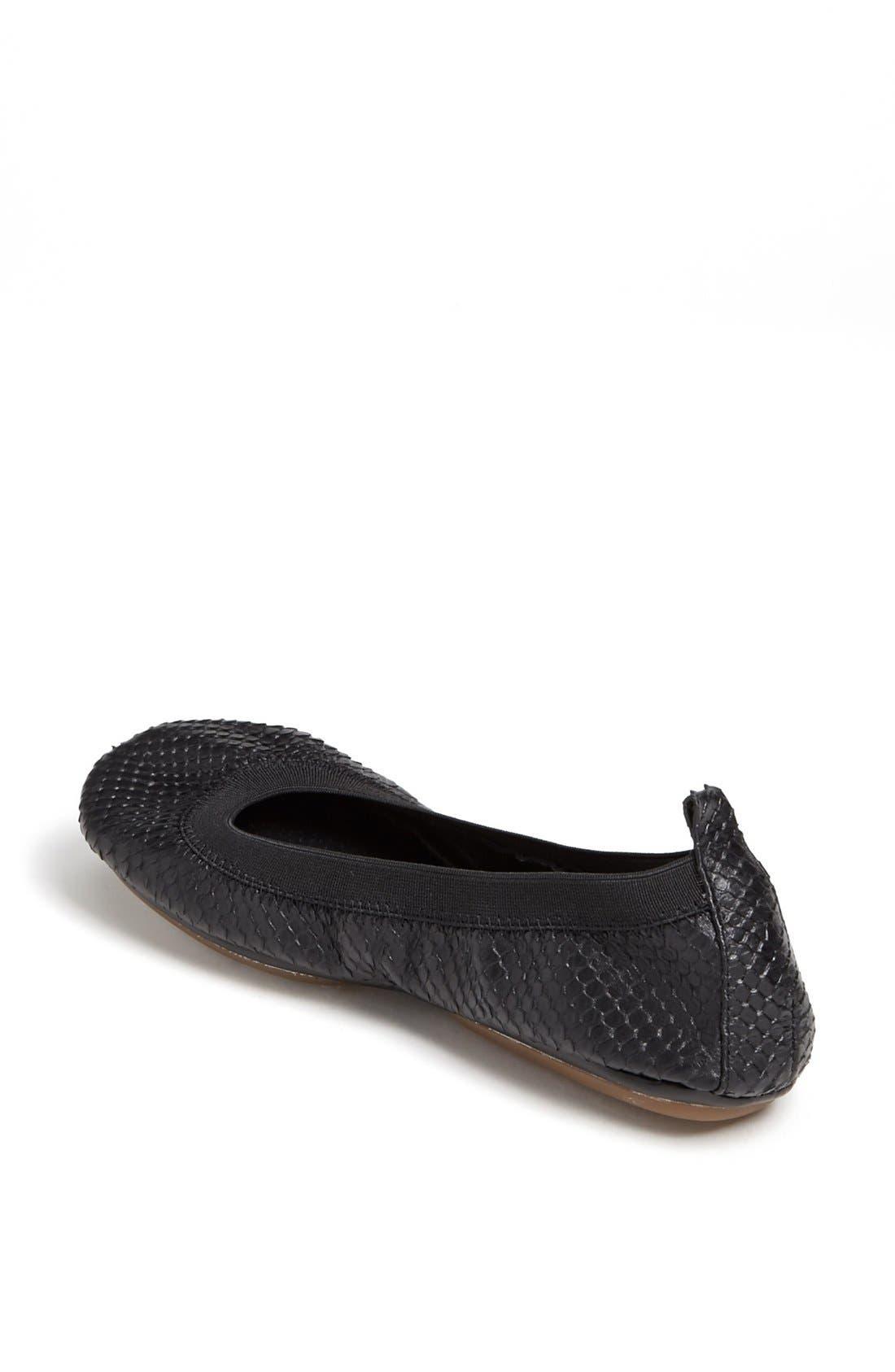 Alternate Image 2  - Yosi Samra Croc Embossed Foldable Ballet Flat