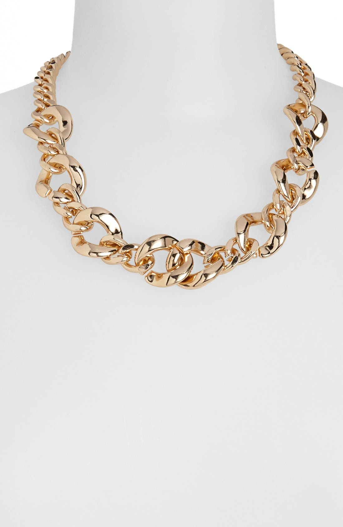 Main Image - Topshop Mixed Chain Necklace