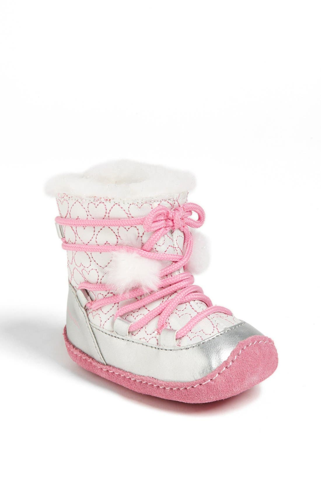 Alternate Image 1 Selected - Stride Rite 'Crawl - Snowdrop' Boot (Baby Girls)