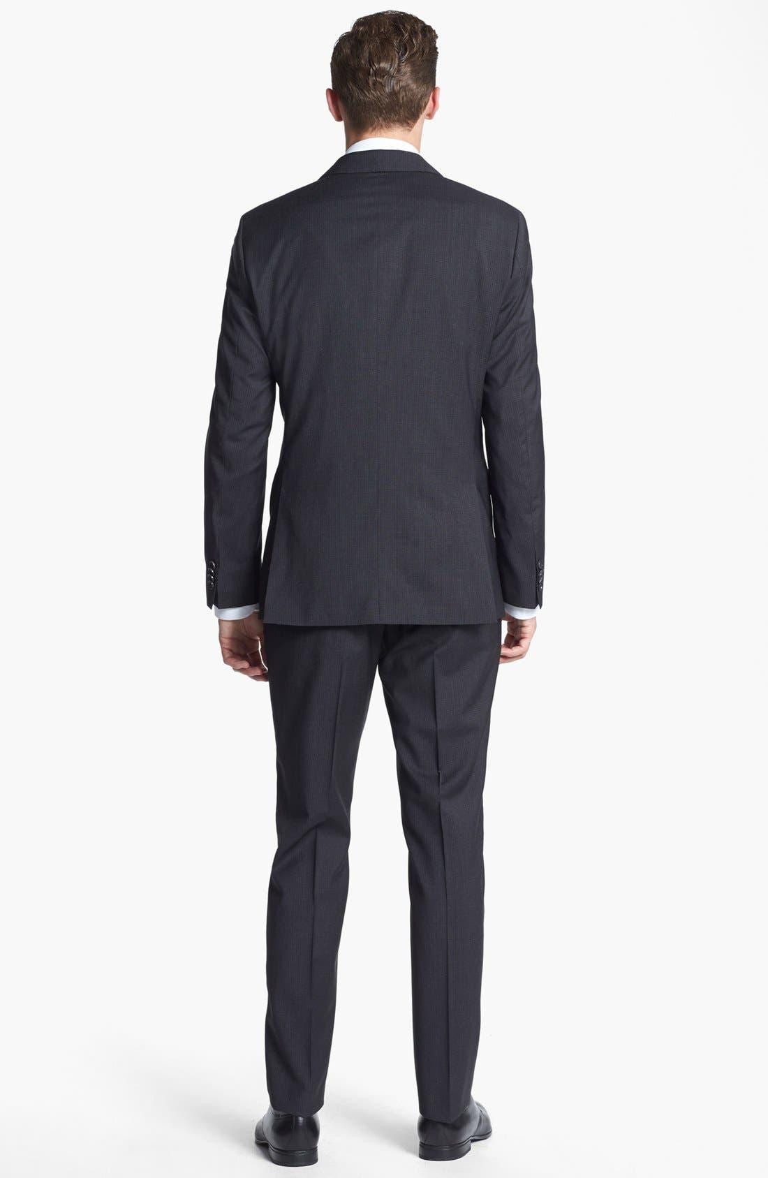 Alternate Image 3  - BOSS HUGO BOSS 'James/Sharp' Trim Fit Check Suit