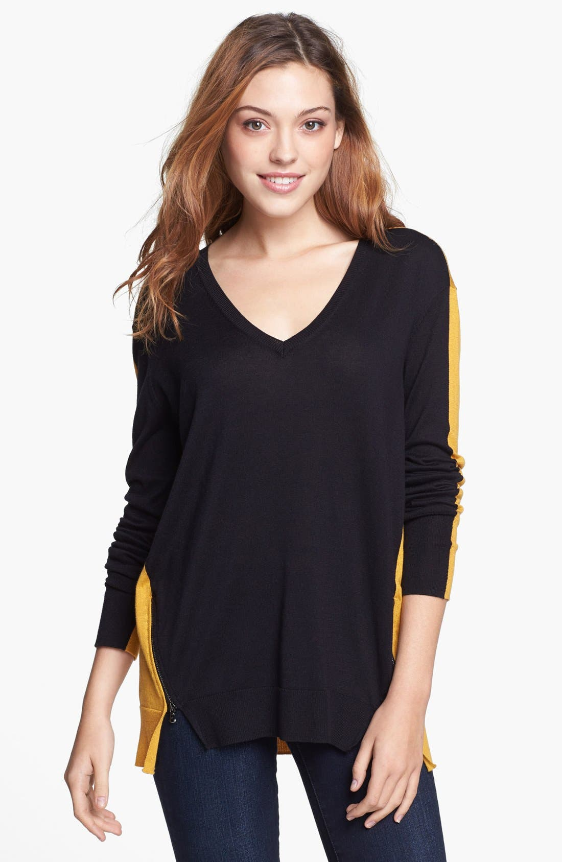 Main Image - Kenneth Cole New York 'Oden' Colorblock Sweater