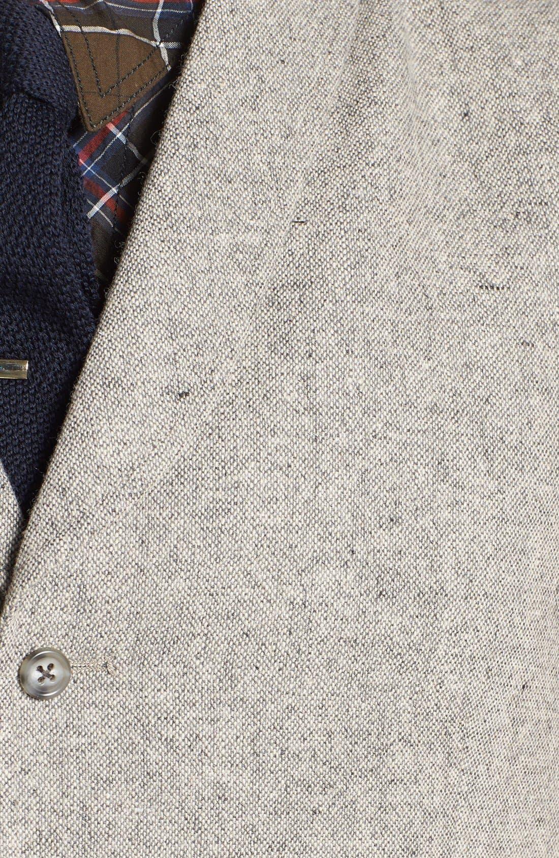 Alternate Image 2  - 1901 Shawl Collar Grey Flannel Vest