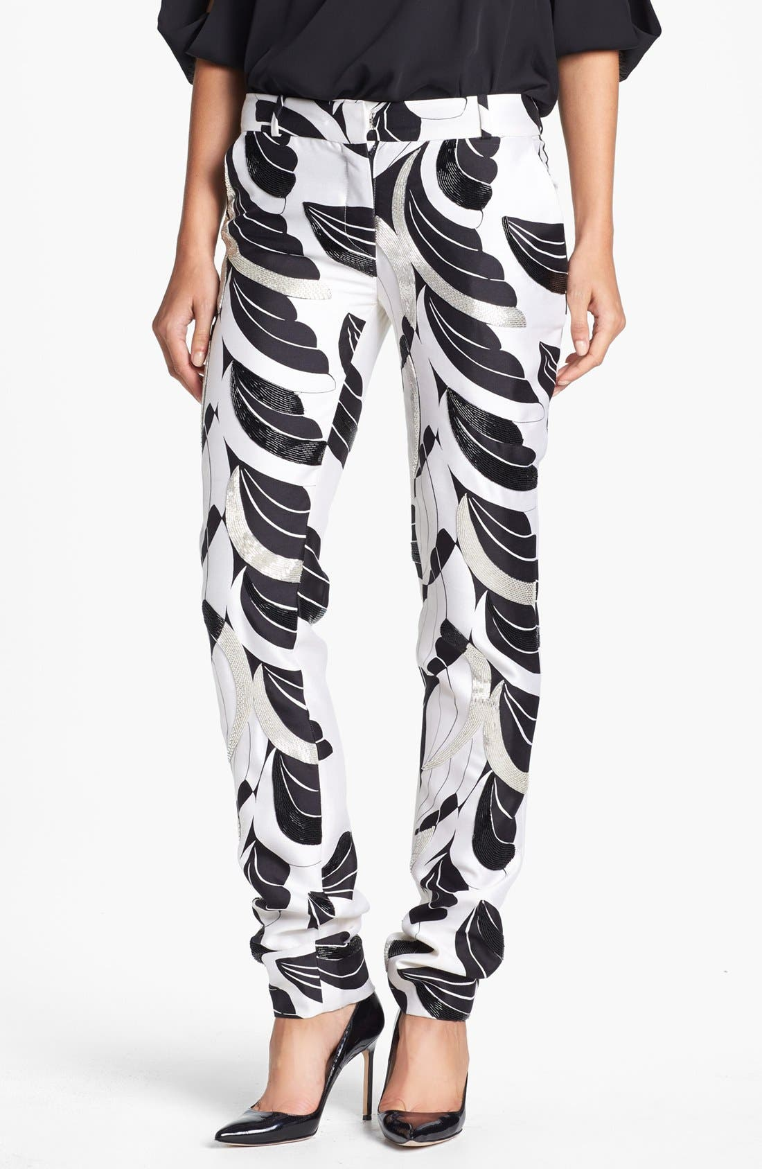 Main Image - Diane von Furstenberg 'Mary Wings' Beaded Pants