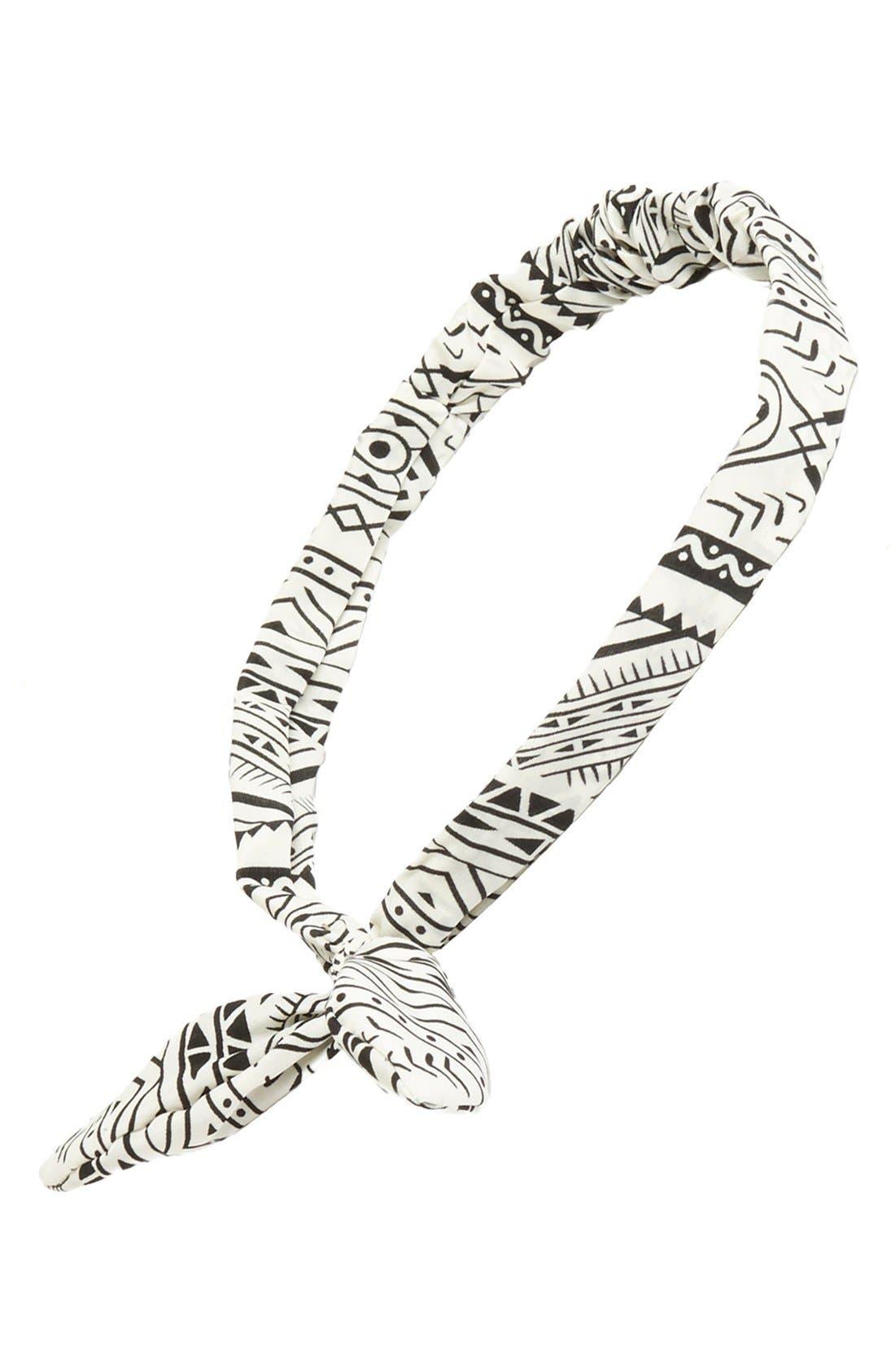 Alternate Image 1 Selected - Topshop Print Wire Headband