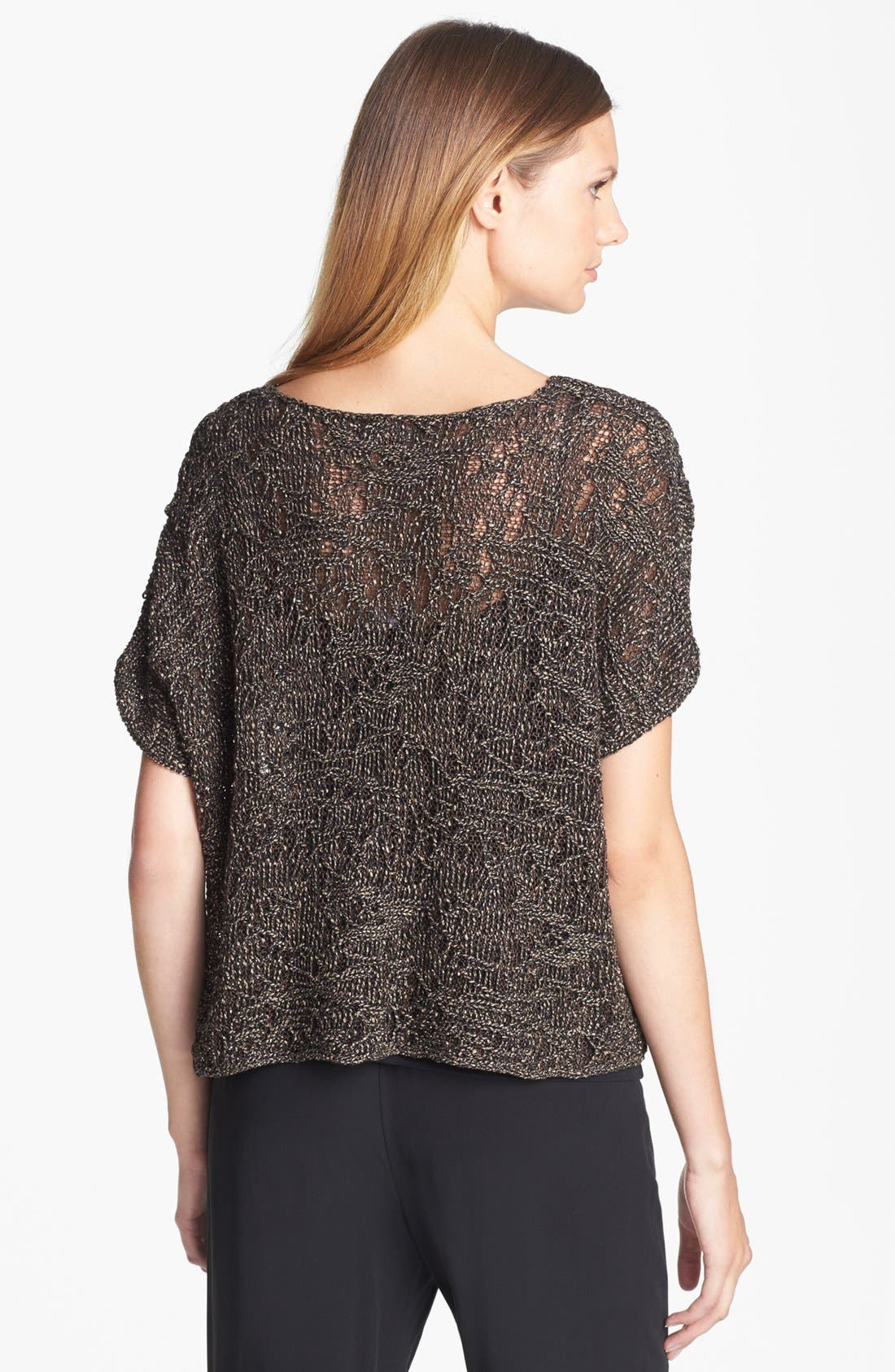 Alternate Image 2  - Eileen Fisher Sparkle Jacquard Top
