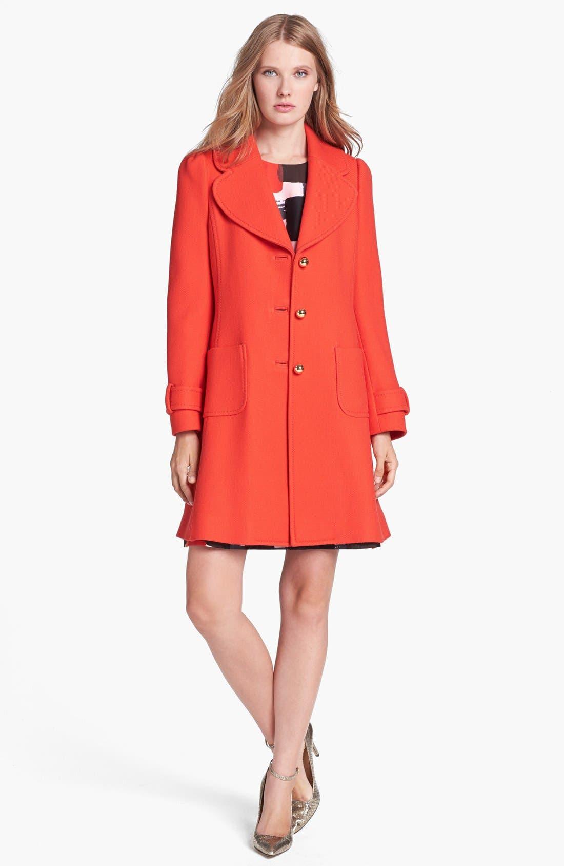 Alternate Image 1  - kate spade new york 'eryn' wool coat