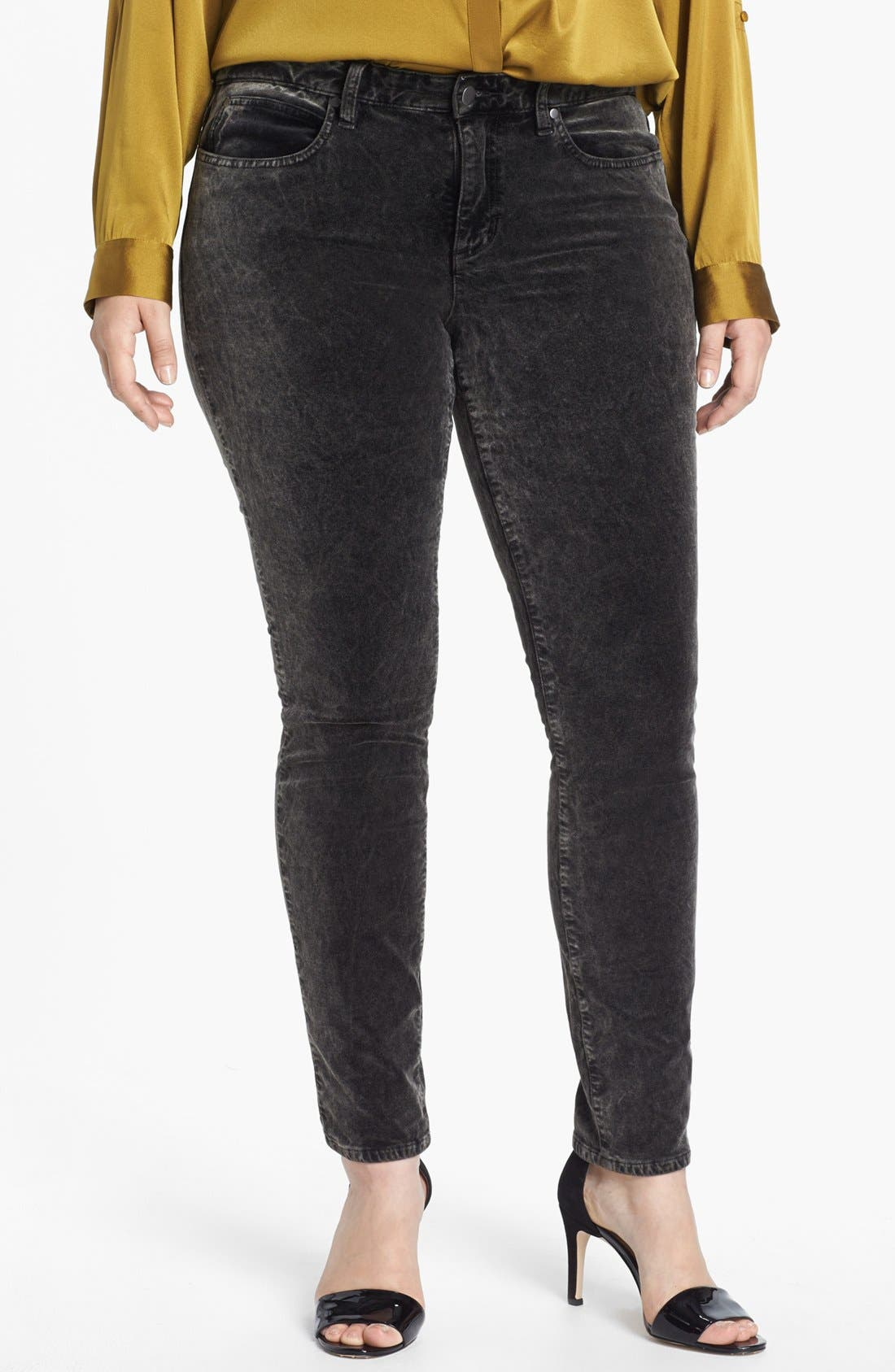 Alternate Image 1 Selected - Eileen Fisher Velveteen Stretch Jeans (Plus Size)