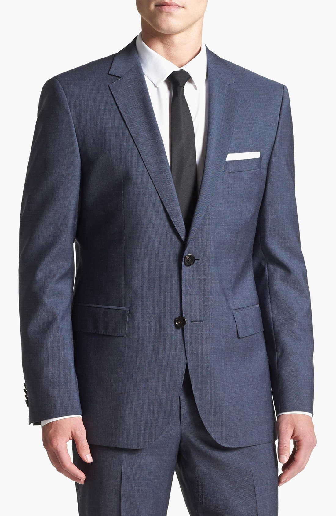 Alternate Image 3  - BOSS HUGO BOSS 'James/Sharp' Trim Fit Wool Suit