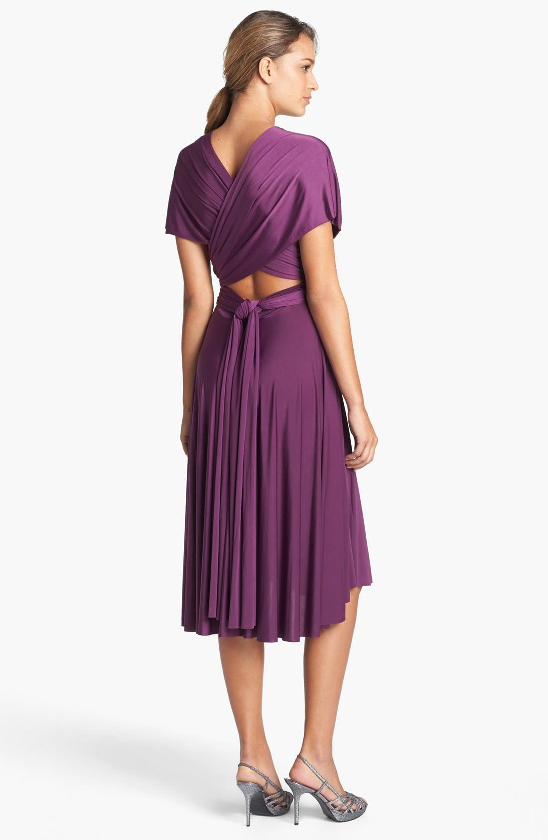 Alternate Image 2  - twobirds Convertible Jersey Gown (Regular & Plus)