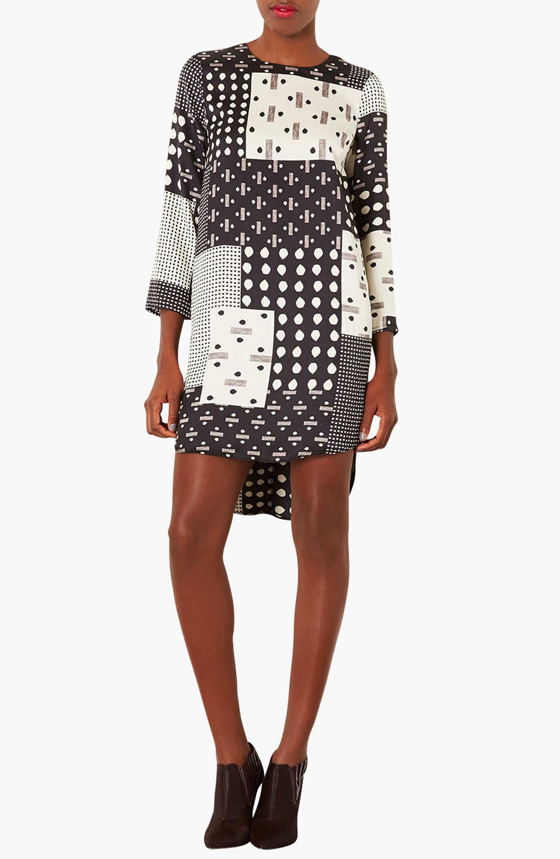 Alternate Image 1 Selected - Topshop 'Patchwork Tear' Tunic Dress