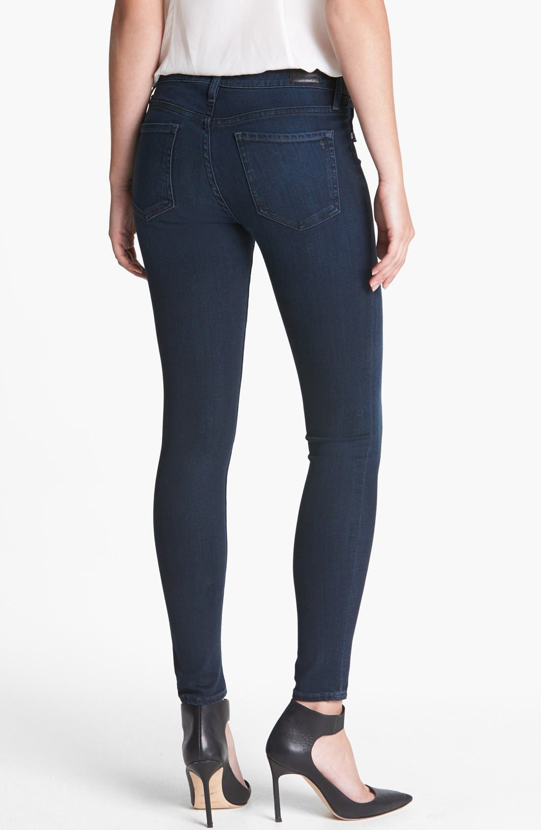 Alternate Image 2  - Joie Ankle Stretch Skinny Jeans (Neptune)