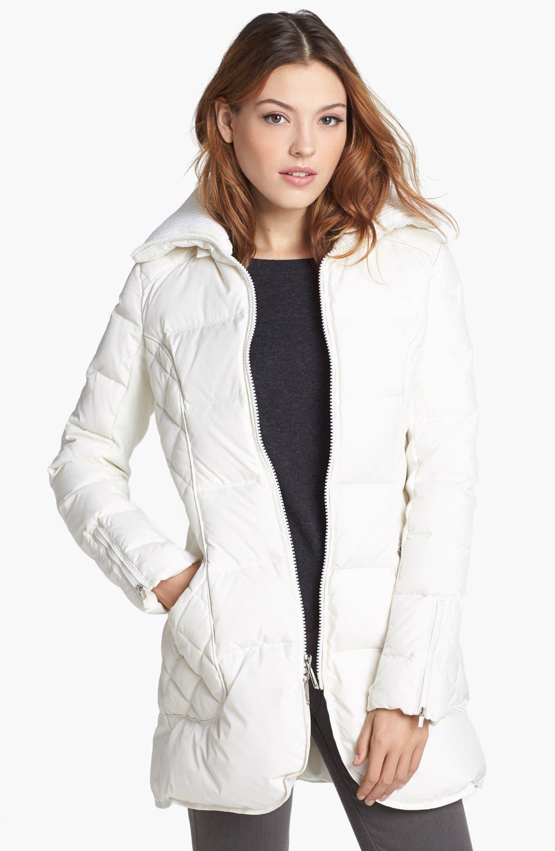 Alternate Image 4  - BCBGeneration Faux Fur Trim Quilted Walking Coat (Online Only)