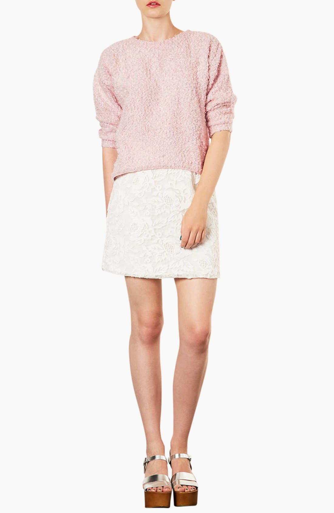 Alternate Image 3  - Topshop Textured Sweater