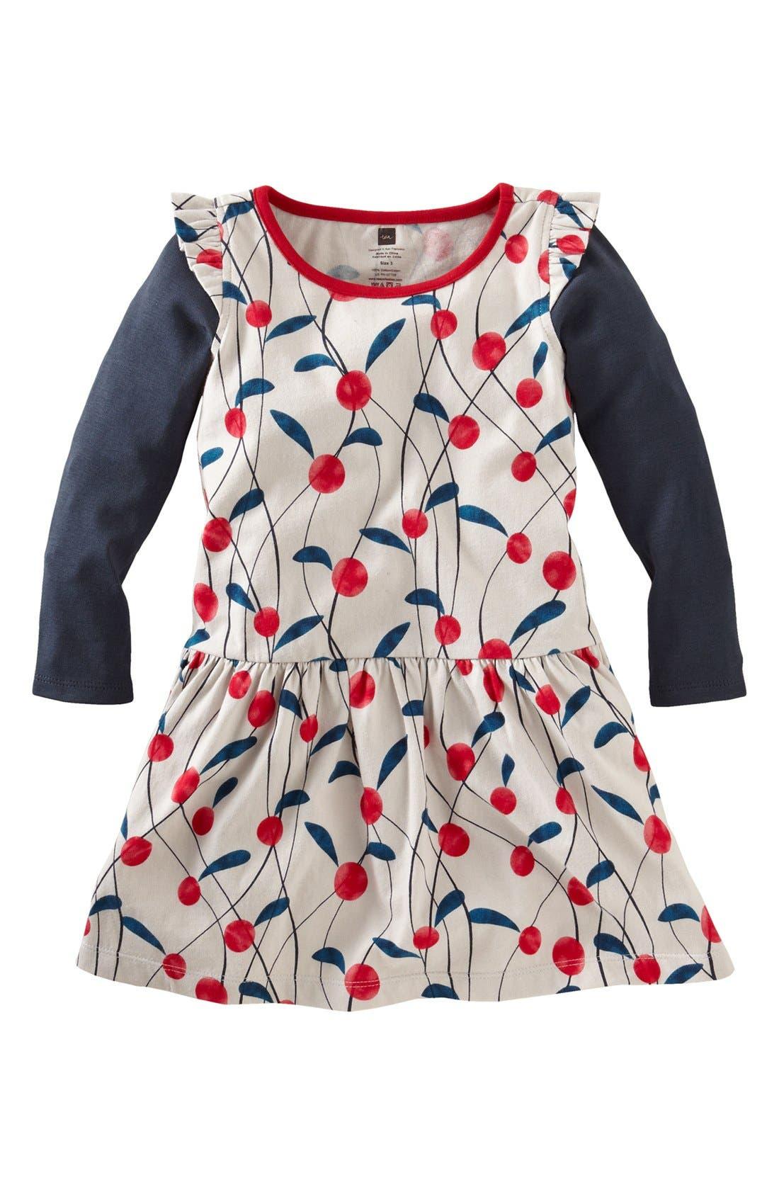 Main Image - Tea Collection 'Lychee' Long Sleeve Dress (Little Girls & Big Girls)
