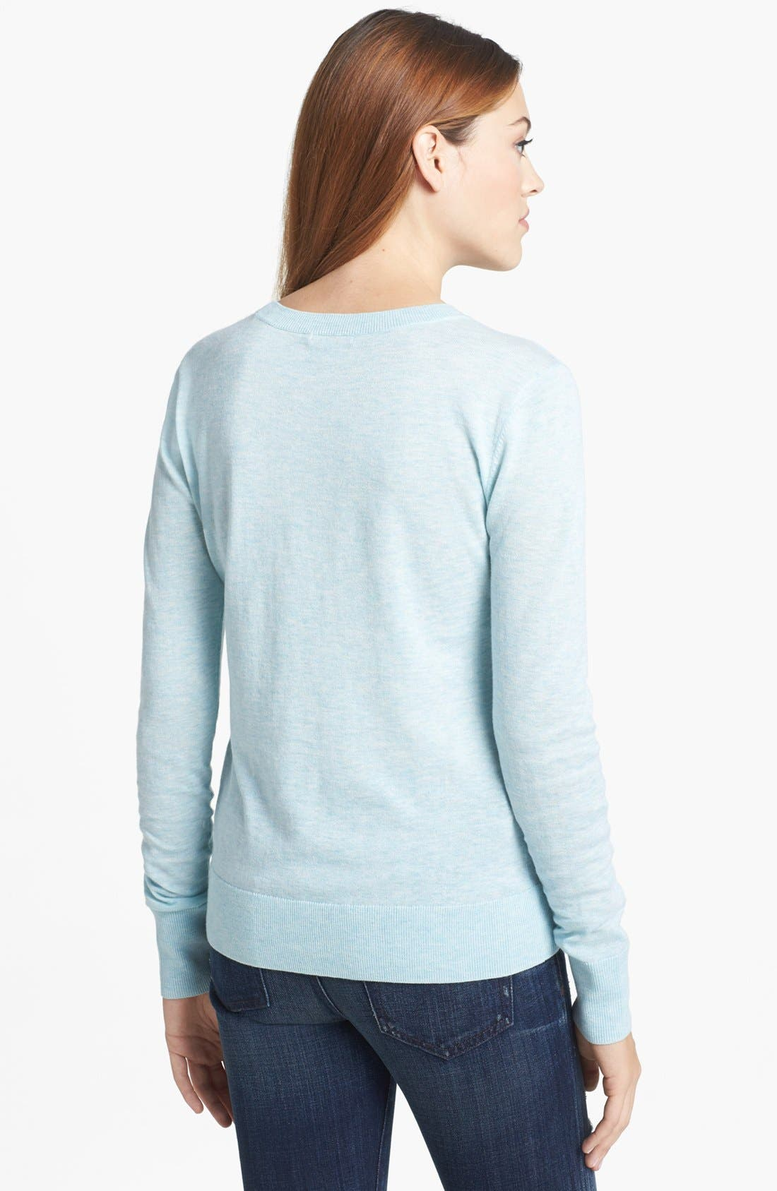 Alternate Image 2  - Halogen® Crewneck Sweater