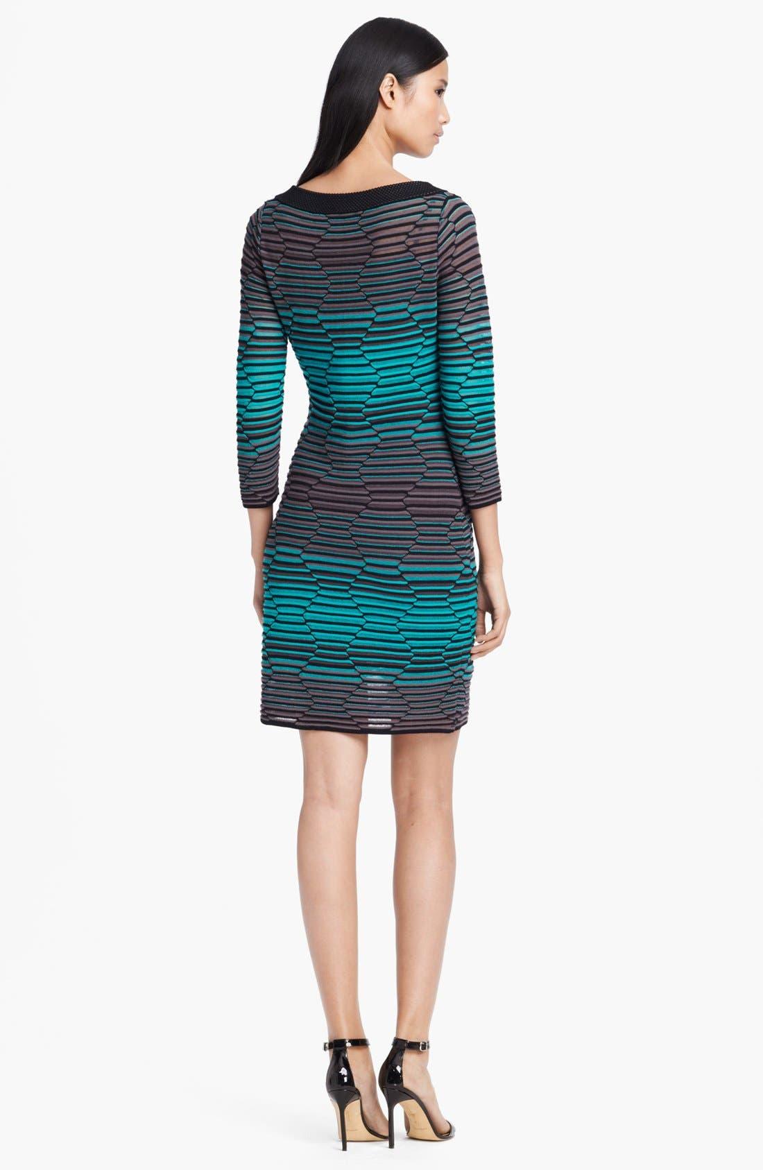 Alternate Image 2  - M Missoni Hexagon Stripe Knit Dress
