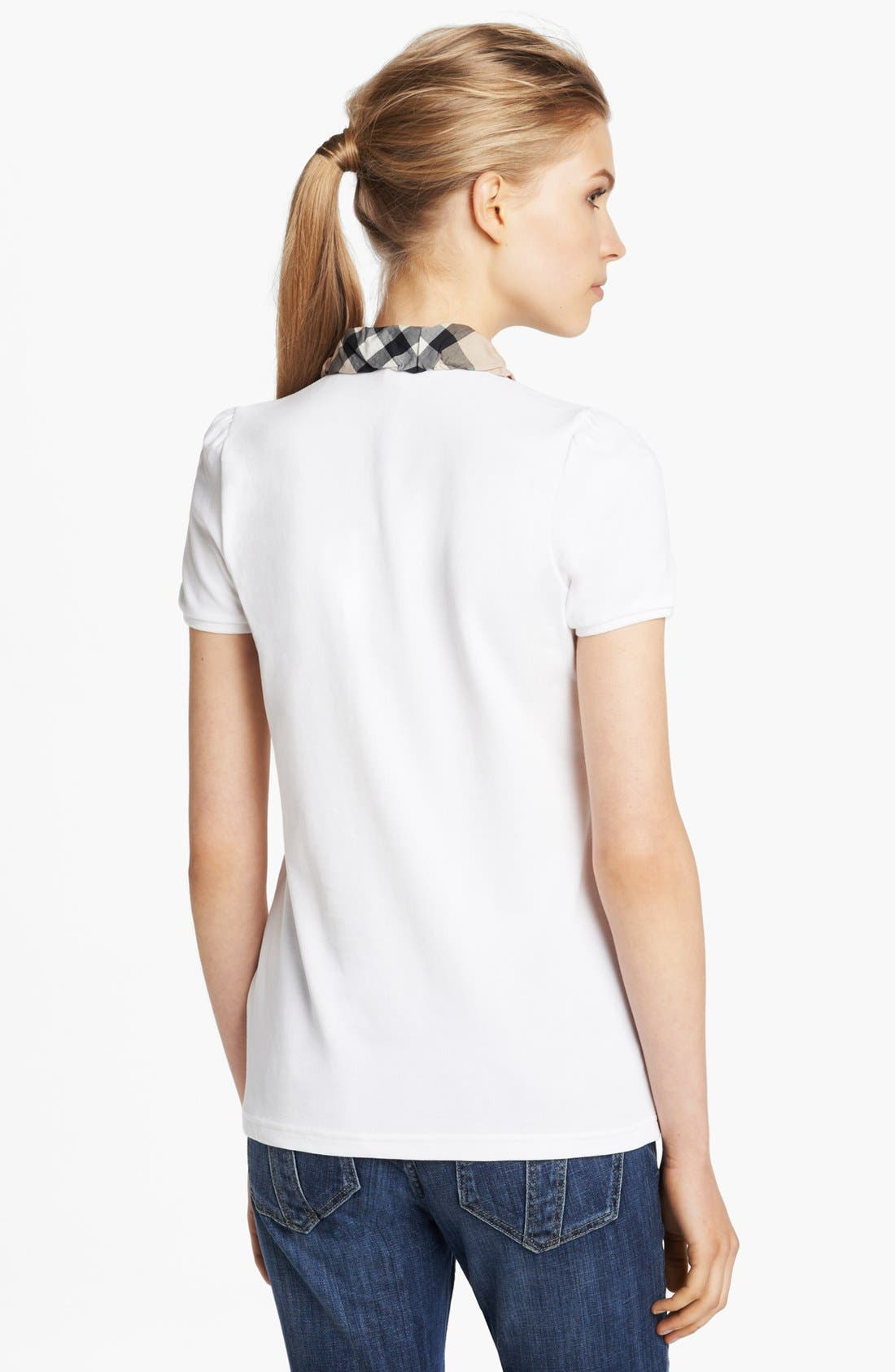Alternate Image 2  - Burberry Brit Ruched Collar Polo