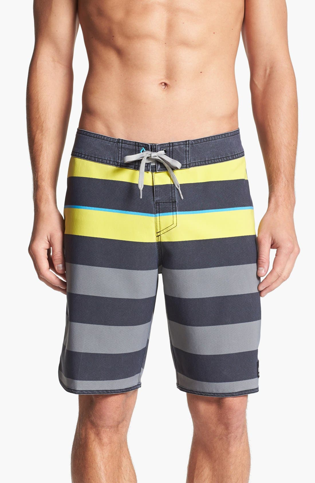 Main Image - Quiksilver 'Cypher Briggs' Scalloped Board Shorts