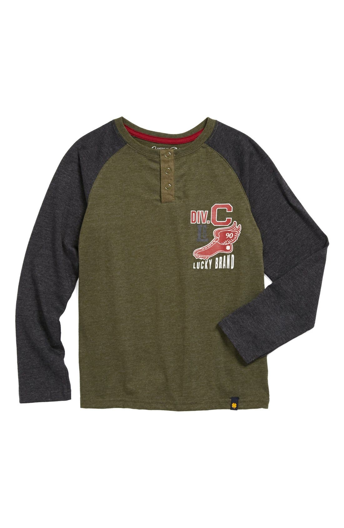 Alternate Image 1 Selected - Lucky Brand 'Division' Henley (Little Boys)