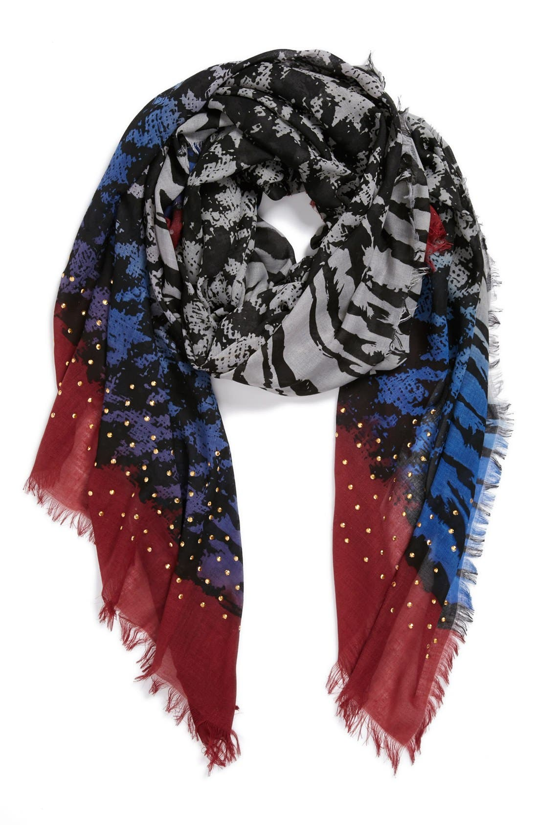 Alternate Image 1 Selected - Steve Madden 'Zebra Teeth' Scarf