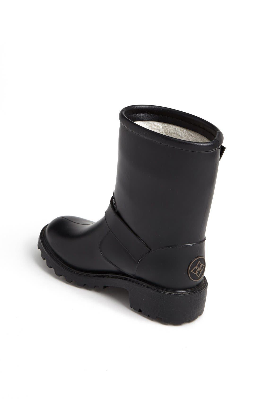 Alternate Image 2  - däv 'Liverpool' Moto Rain Boot (Toddler & Little Kid)