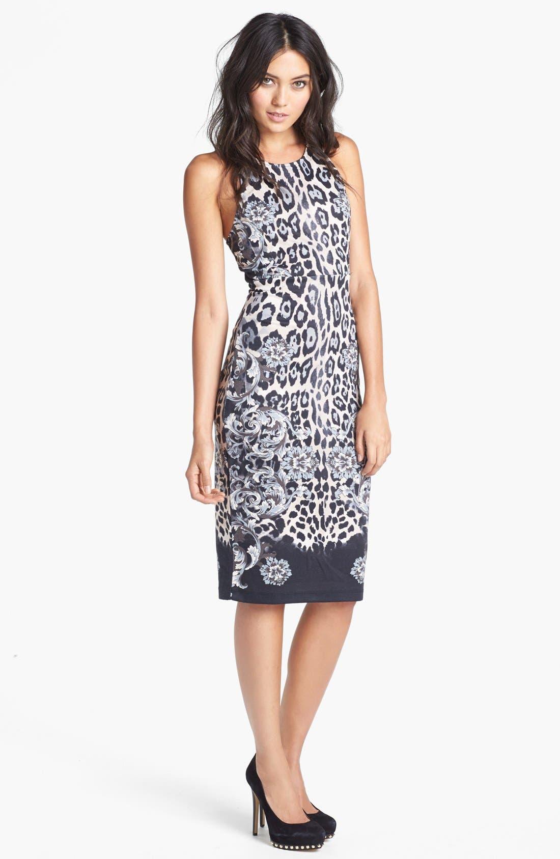 Main Image - WAYF 'Baroque' Body-Con Midi Dress