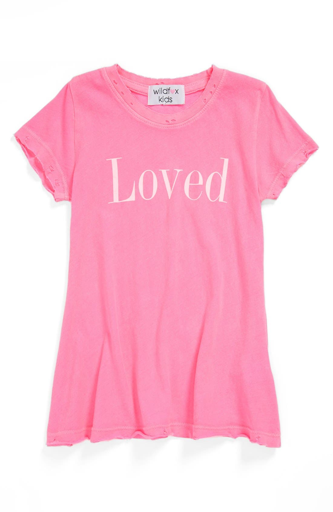 Alternate Image 1 Selected - Wildfox 'Loved' Tee (Little Girls)