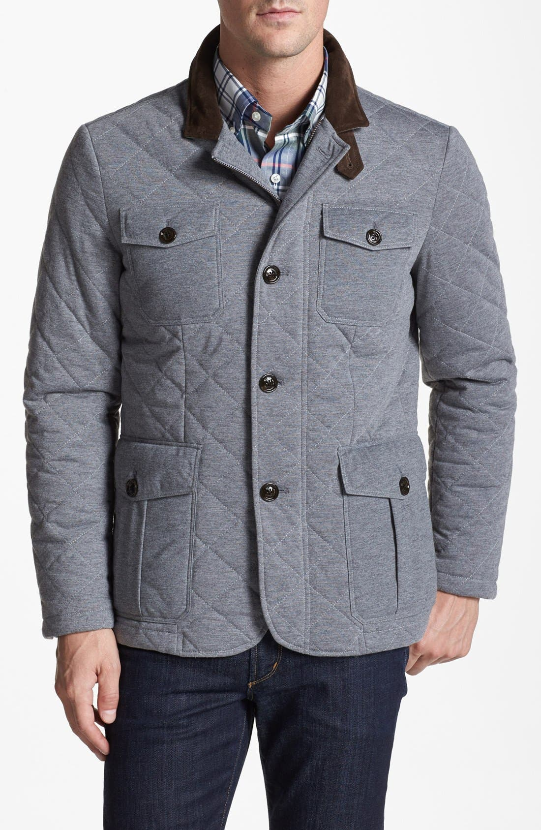 Alternate Image 1 Selected - Kent and Curwen 'Michaels' Quilted Water Repellent Paddock Jacket