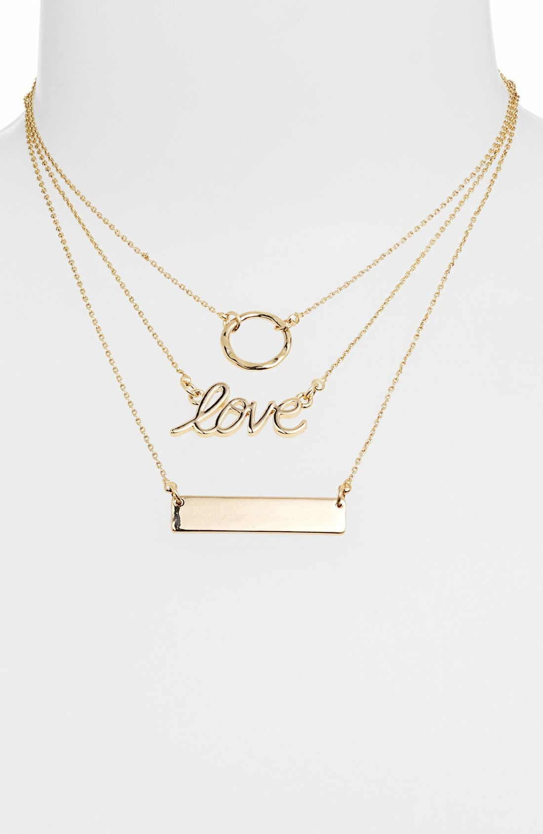 Alternate Image 2  - Stephan & Co. 'Love' Script Necklace (Juniors)
