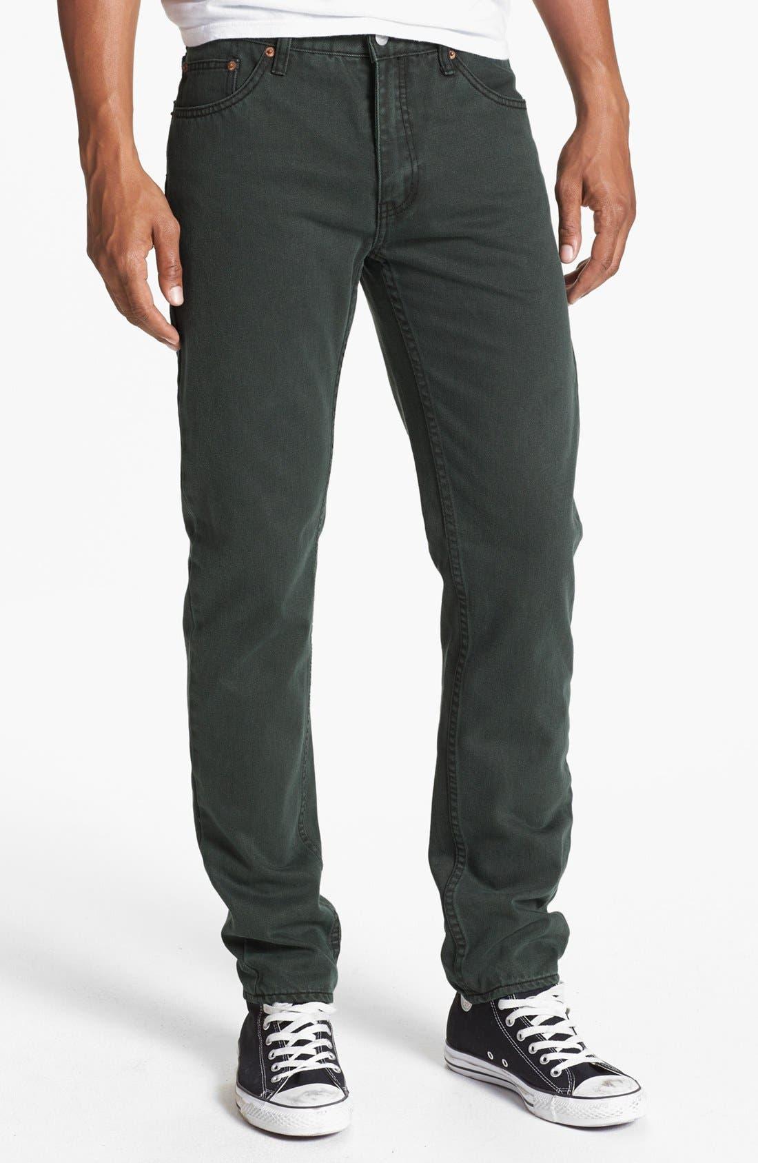 Alternate Image 2  - Cheap Monday High Slim Straight Leg Jeans (Black Night)