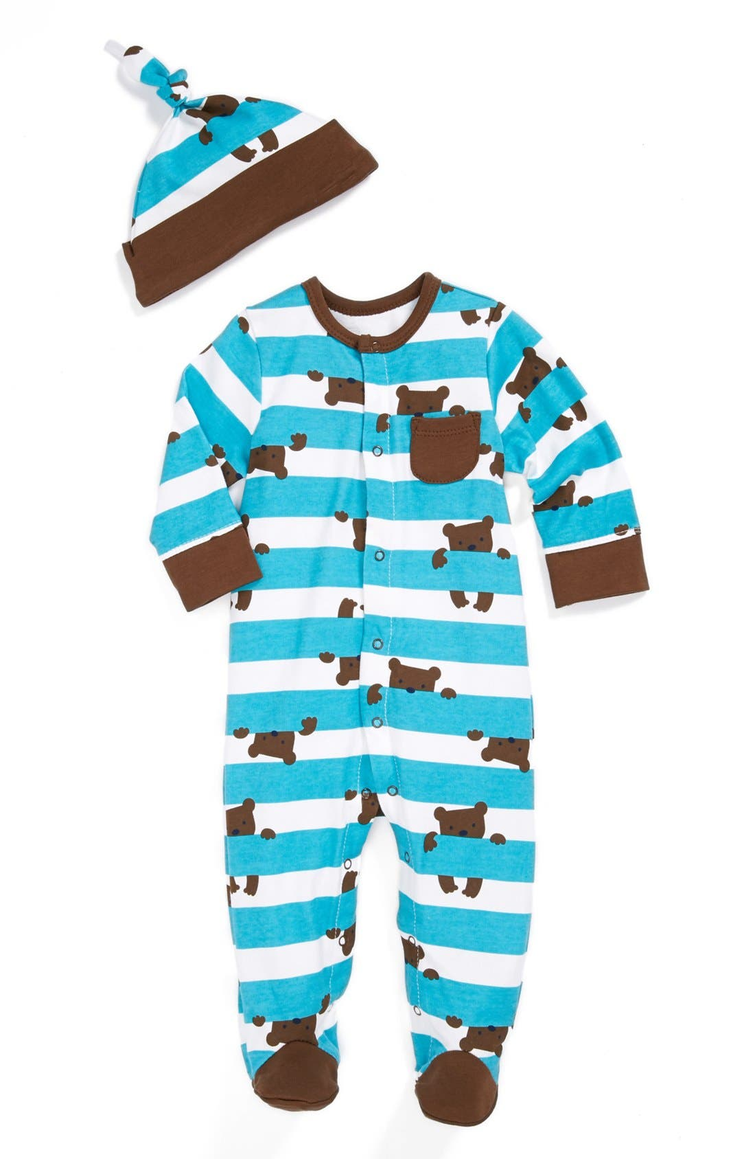 Main Image - Offspring One-Piece & Hat (Baby)