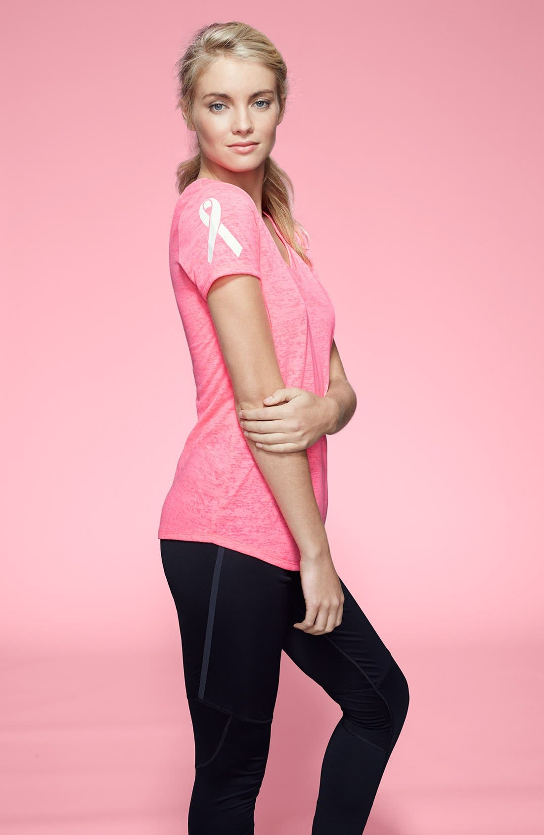 Alternate Image 4  - Under Armour 'Power in Pink Achieve' Tee