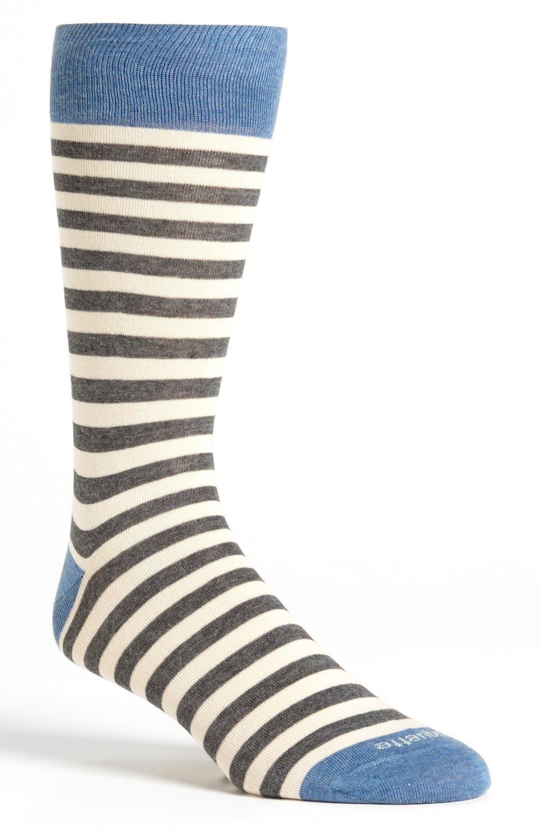 Alternate Image 1 Selected - Etiquette Clothiers Stripe Socks