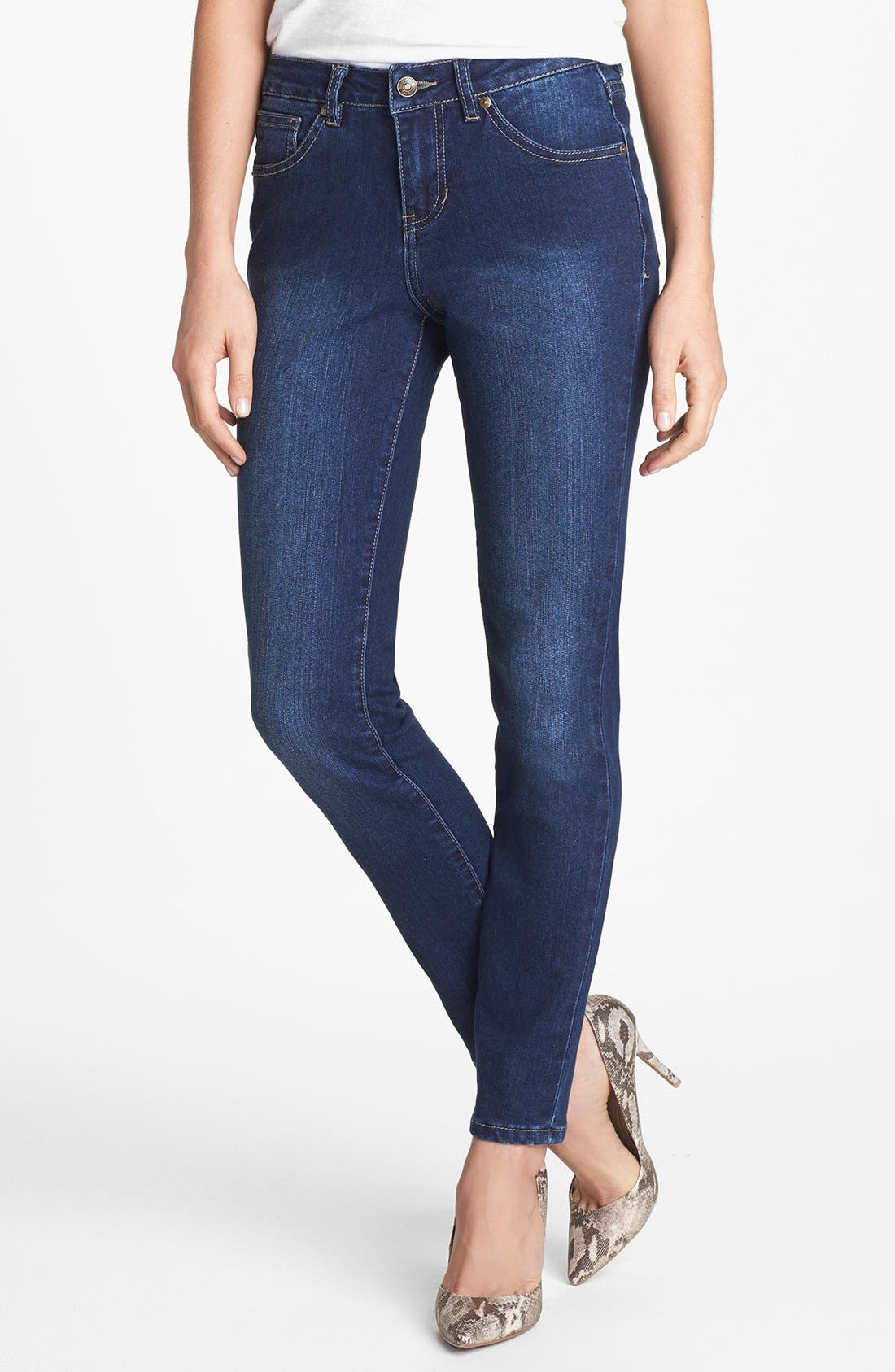 Alternate Image 1 Selected - Jag Jeans 'Miranda' Skinny Jeans (Dark Rainwash)