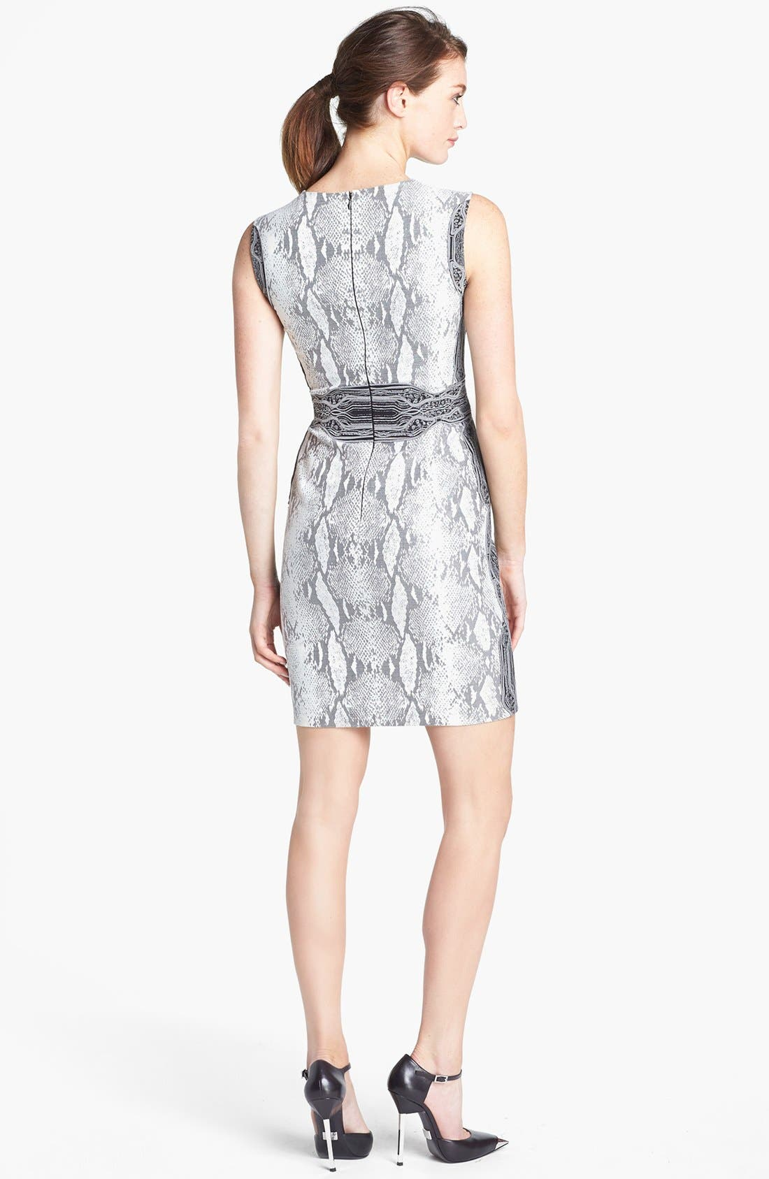 Alternate Image 2  - Diane von Furstenberg 'Bey' Snake Print Sleeveless Dress