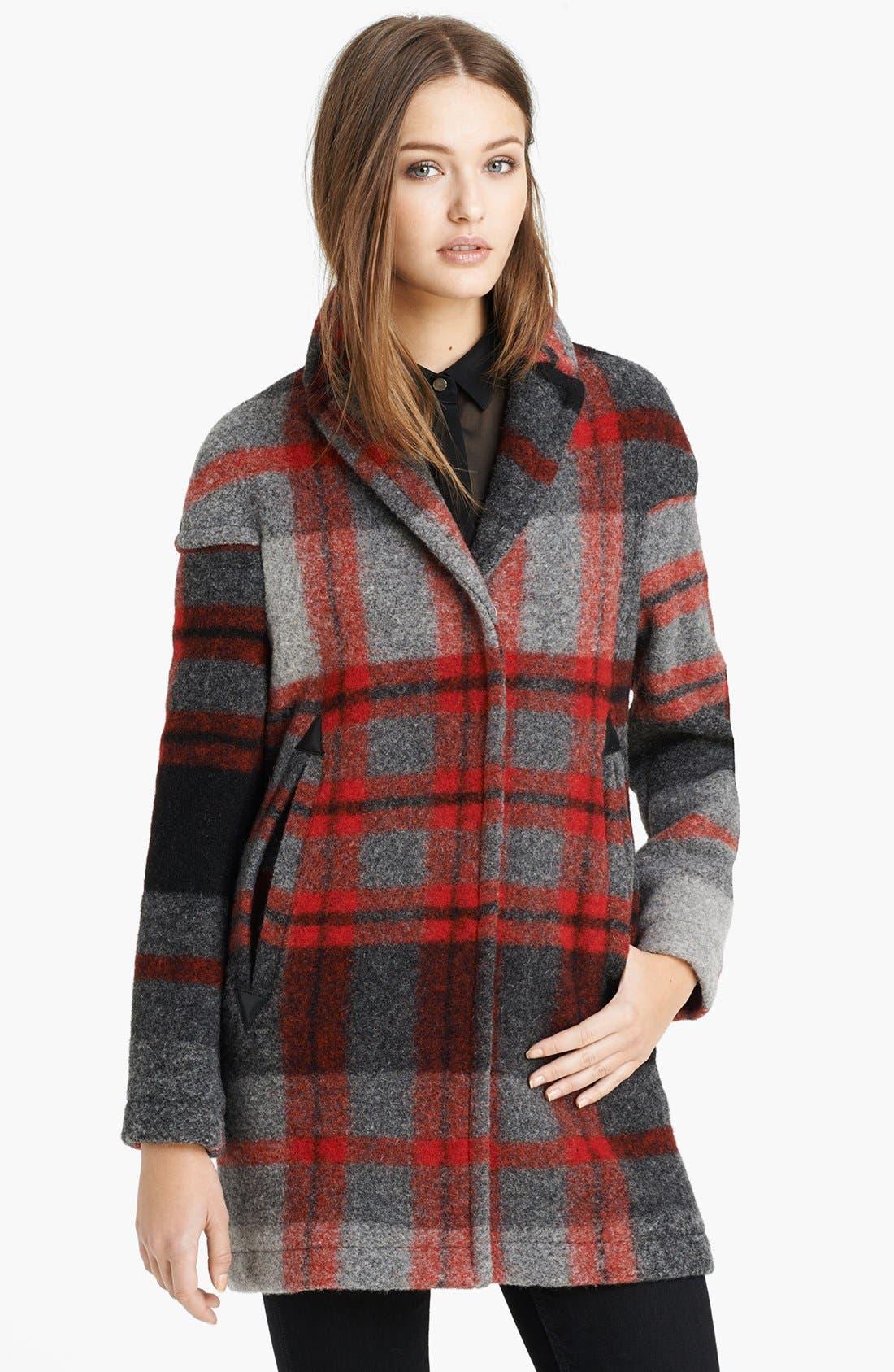 Alternate Image 1 Selected - Burberry Brit 'Sharford' Plaid Coat