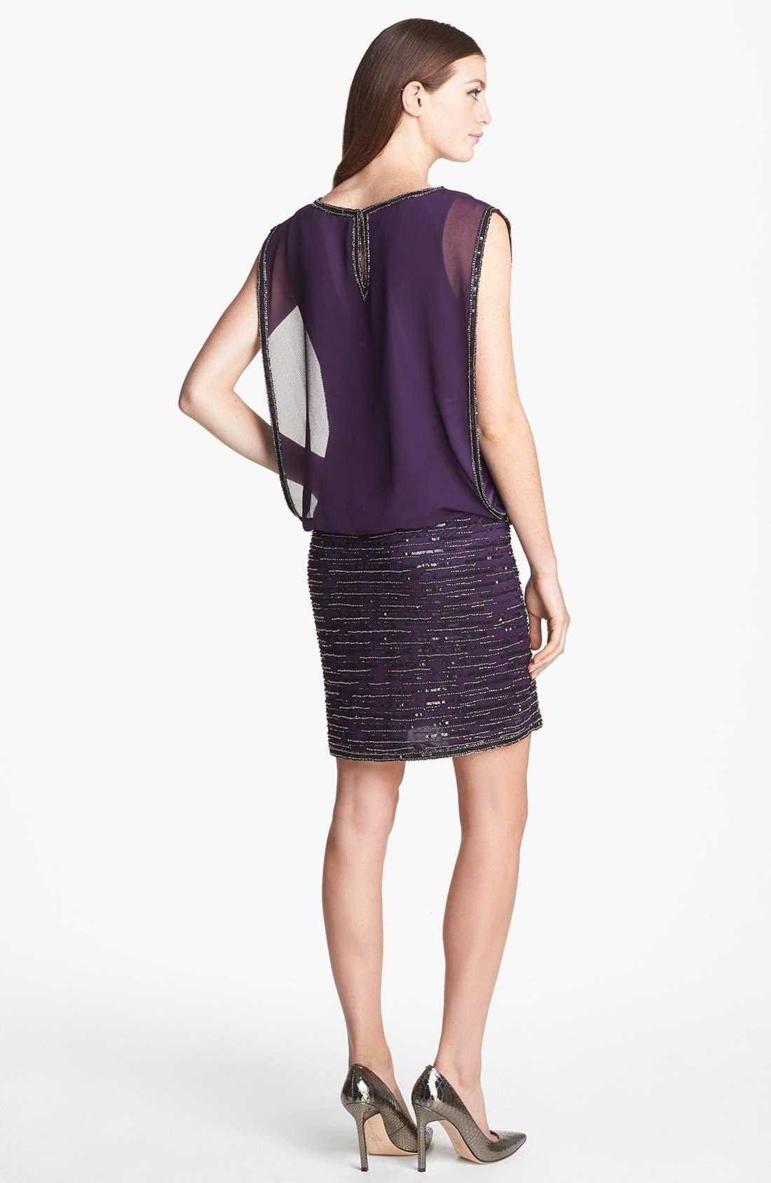 Alternate Image 2  - J Kara Embellished Sleeveless Short Dress
