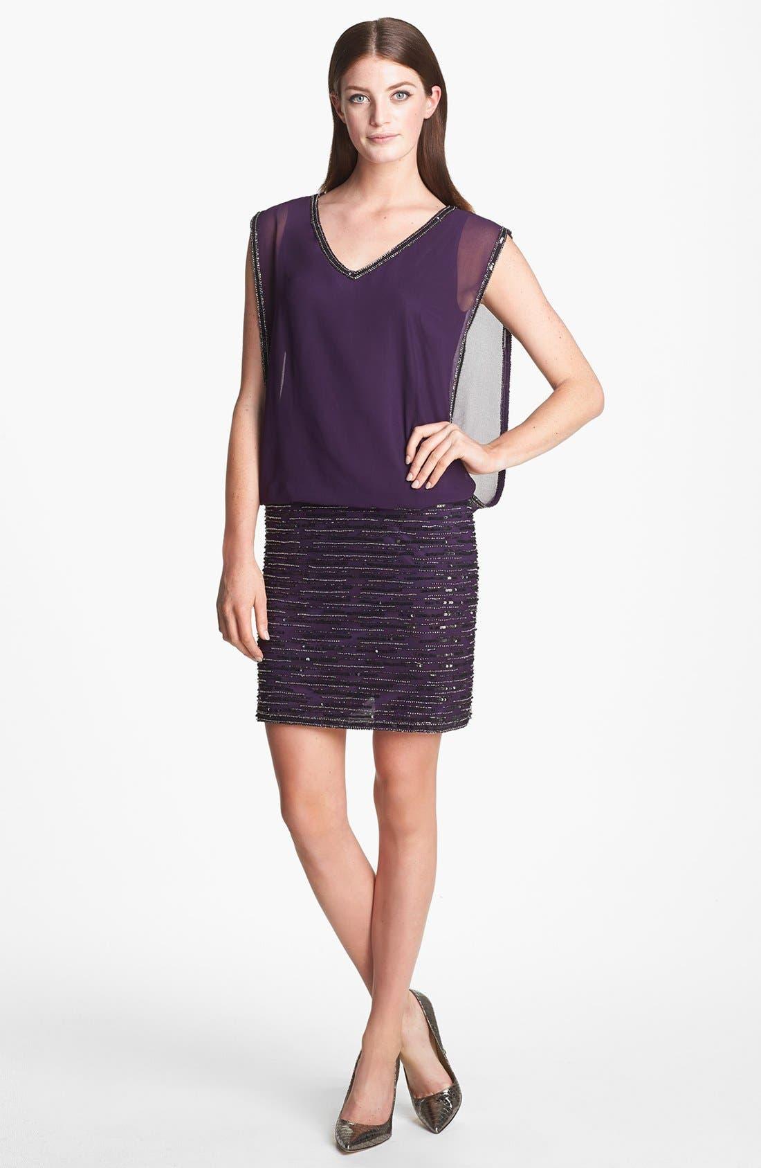 Alternate Image 3  - J Kara Embellished Sleeveless Short Dress