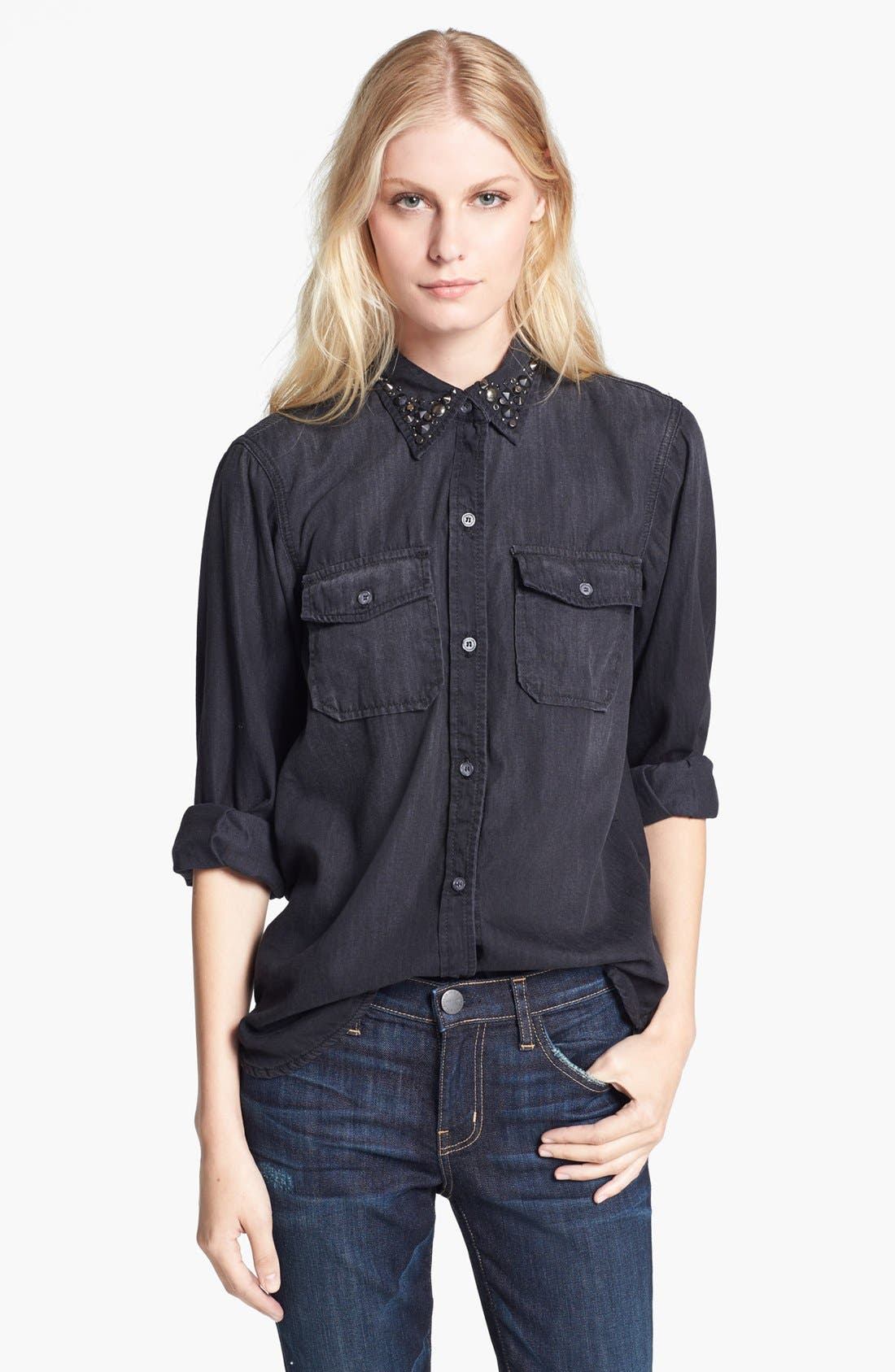 Alternate Image 1 Selected - Current/Elliott 'The Perfect Shirt' Button Front Denim Shirt