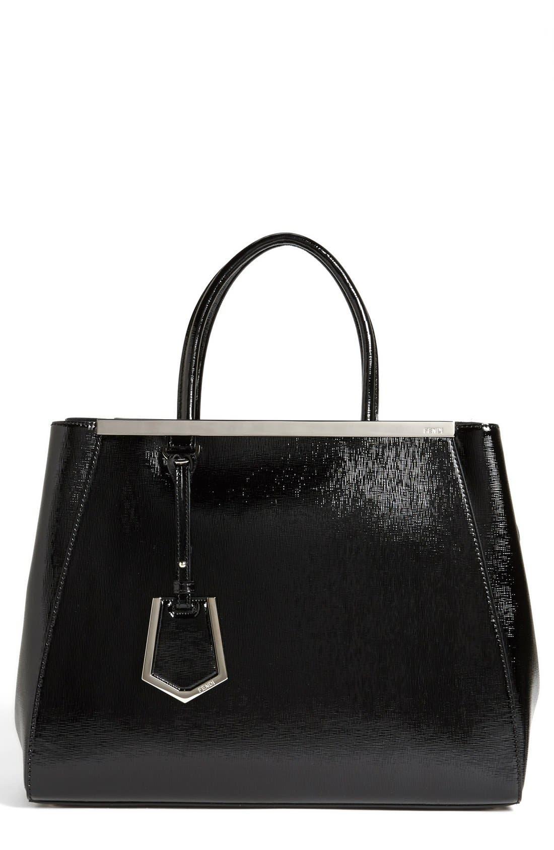 Alternate Image 1 Selected - Fendi 'Medium 2Jours' Leather Shopper