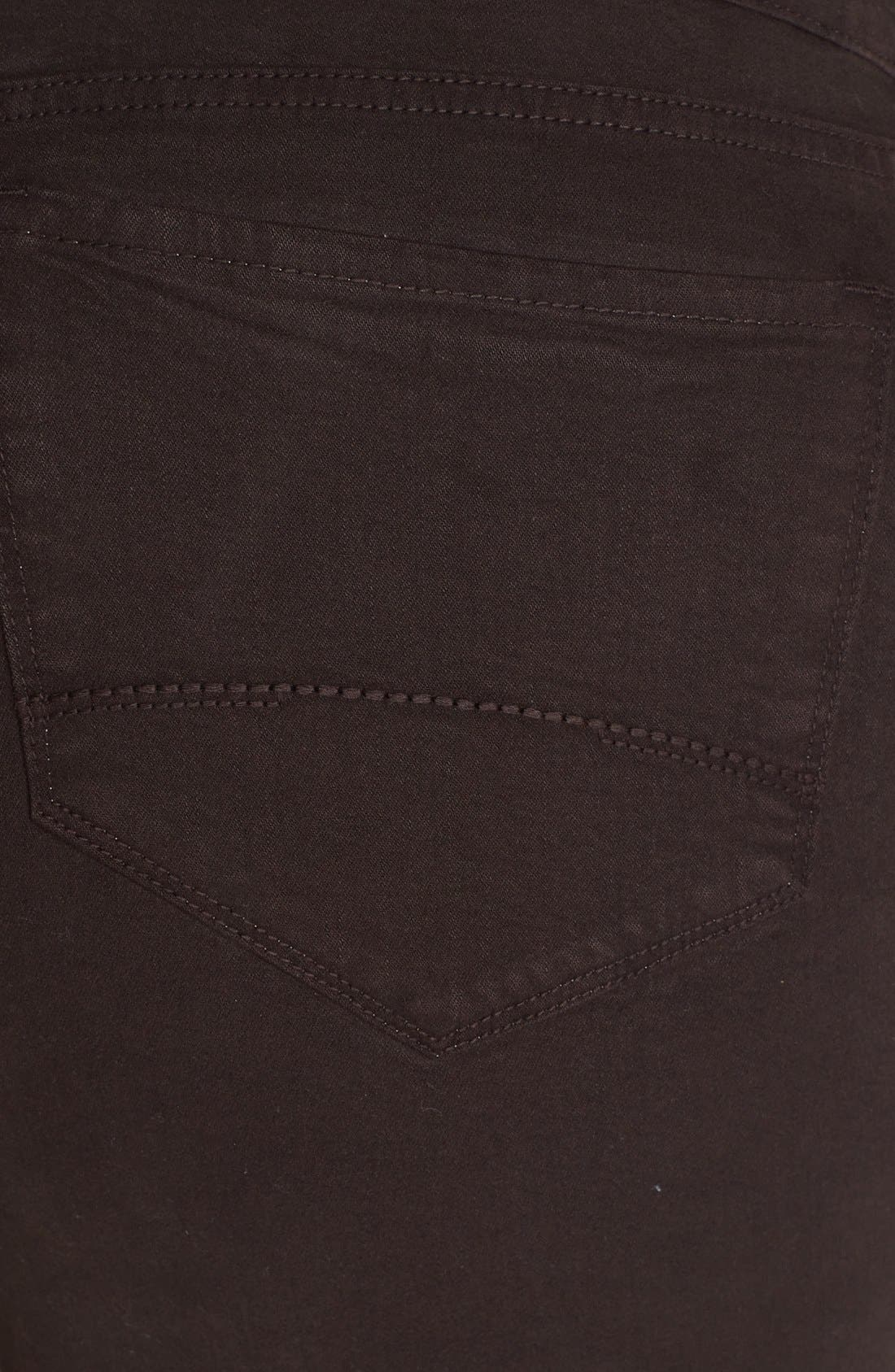 Alternate Image 3  - NYDJ 'Marilyn' Colored Stretch Straight Jeans (Plus Size)