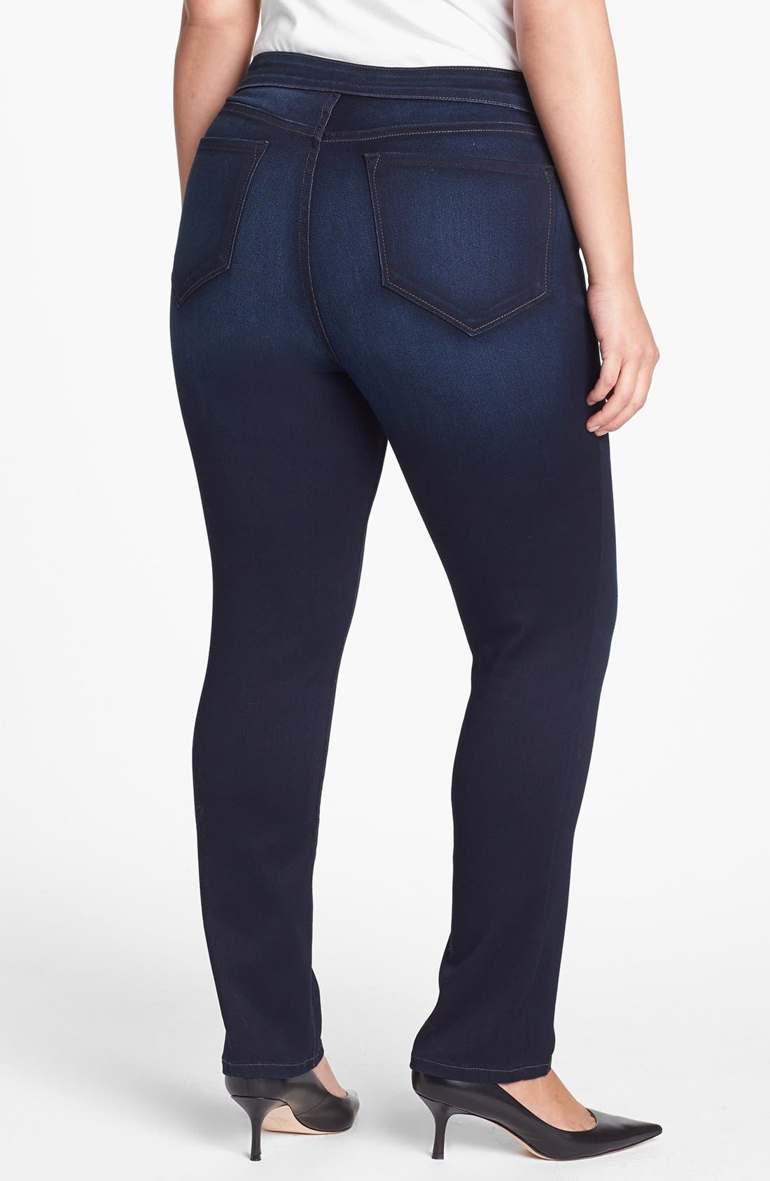 Alternate Image 2  - NYDJ 'Jaclyn' Stretch Skinny Jeans (Pasadena) (Plus Size)