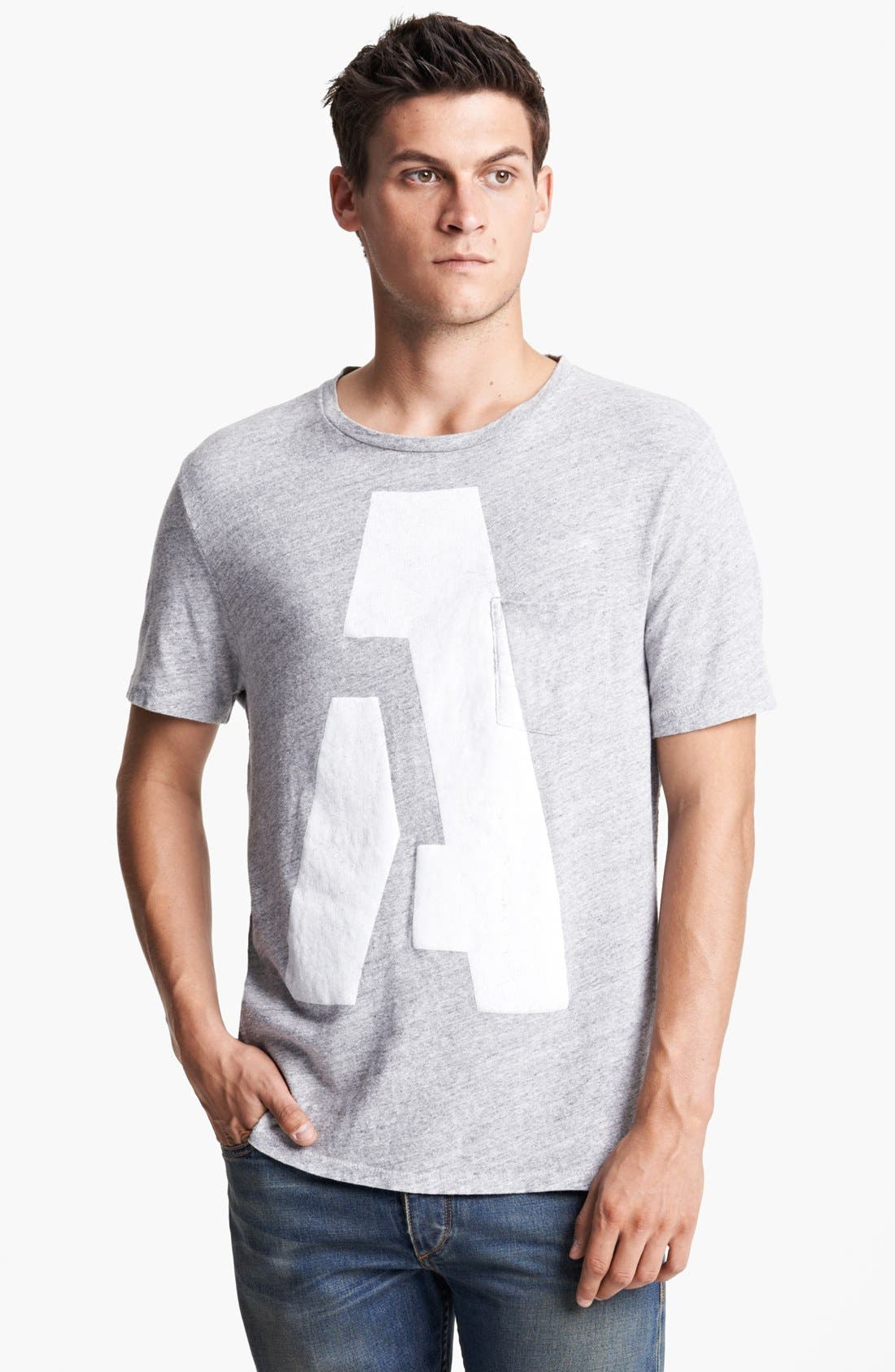 Alternate Image 1 Selected - rag & bone Alphabet Print Pocket T-Shirt
